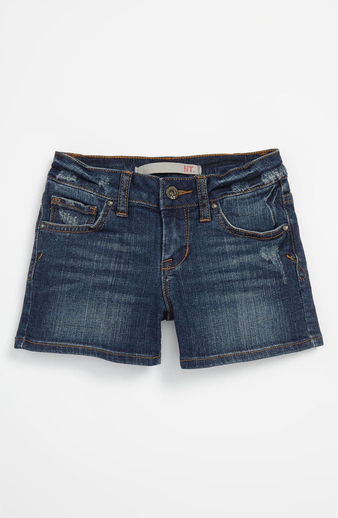 Alternate Image 2  - !iT JEANS Denim Shorts (Little Girls)