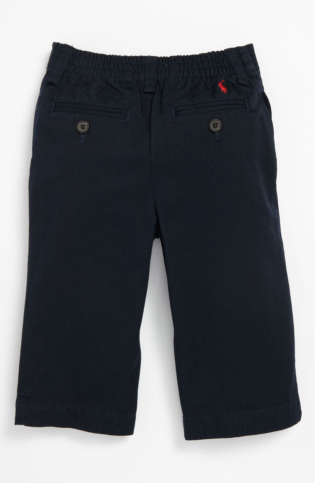 Alternate Image 2  - Ralph Lauren Flat Front Pants (Baby)