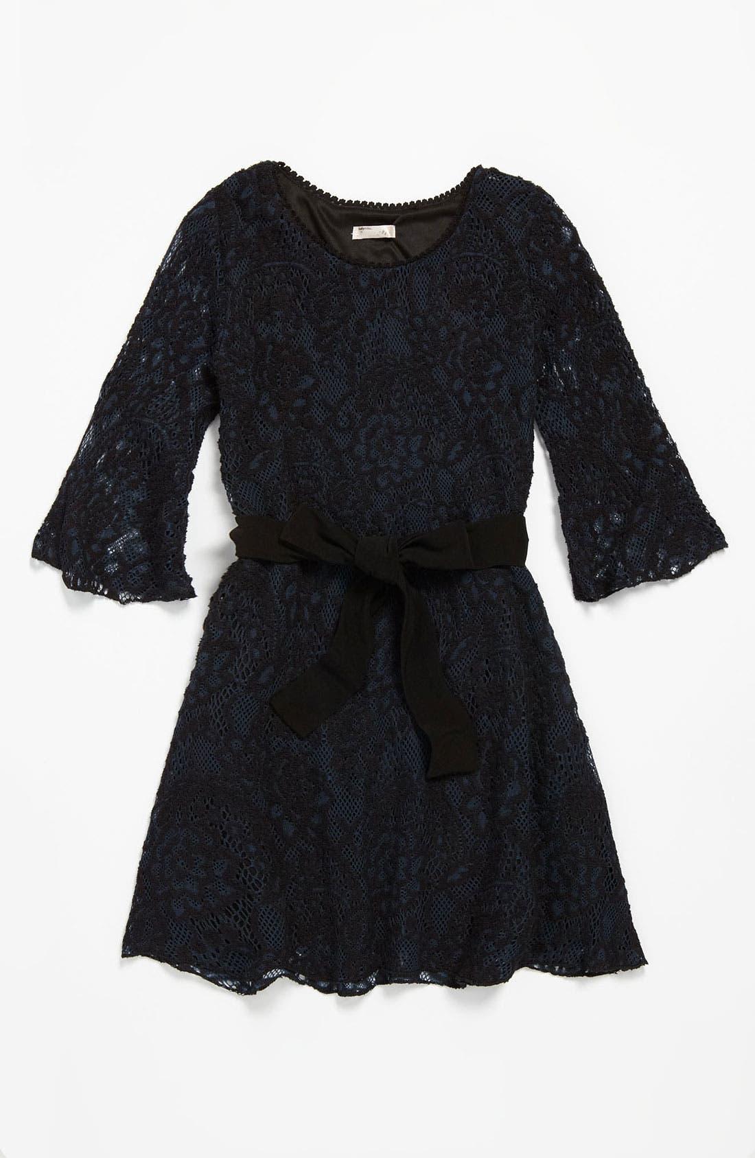 Main Image - Sally Miller Crochet Dress (Big Girls)