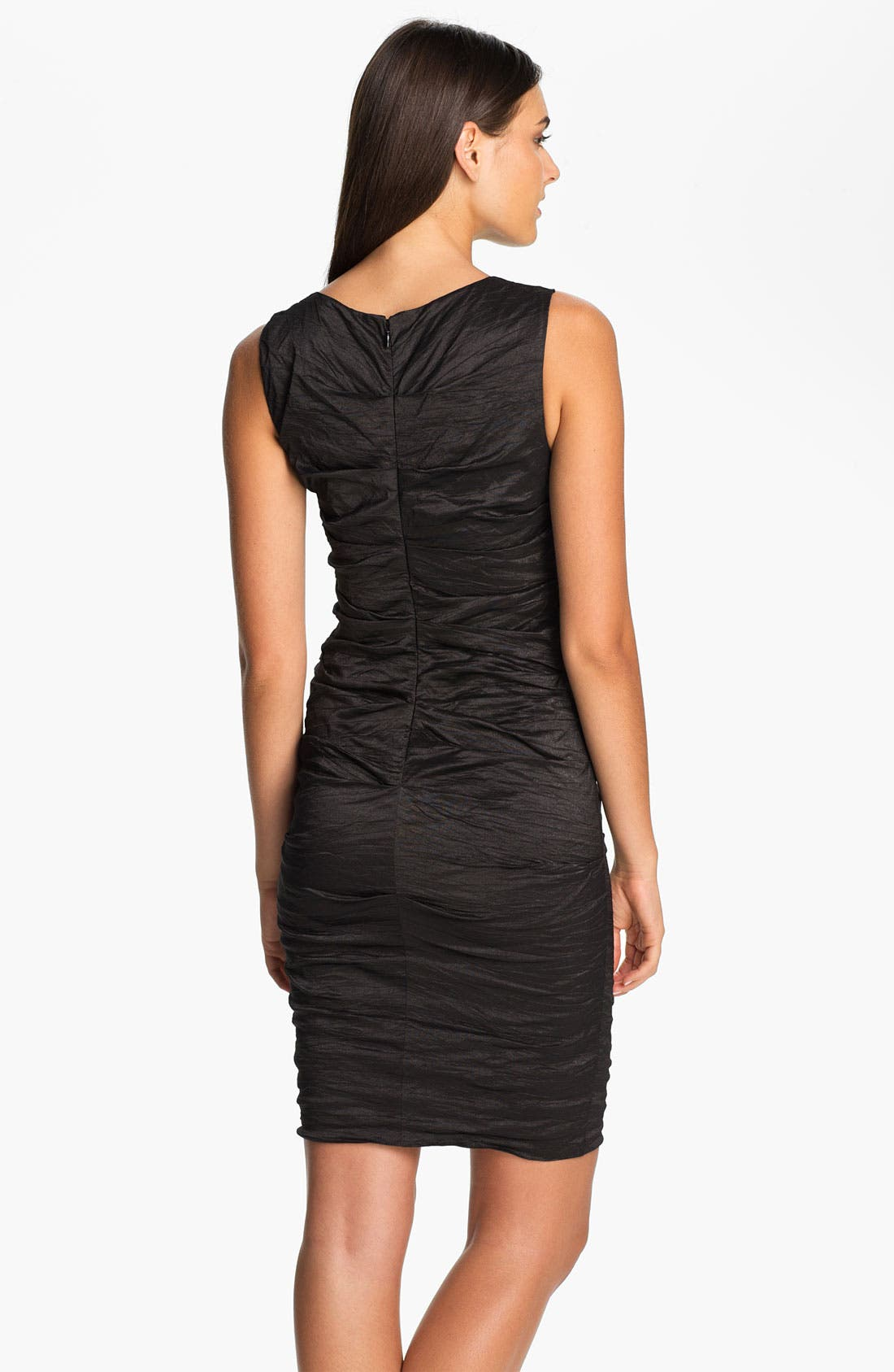 Alternate Image 2  - Nicole Miller Metallic Woven Sheath Dress