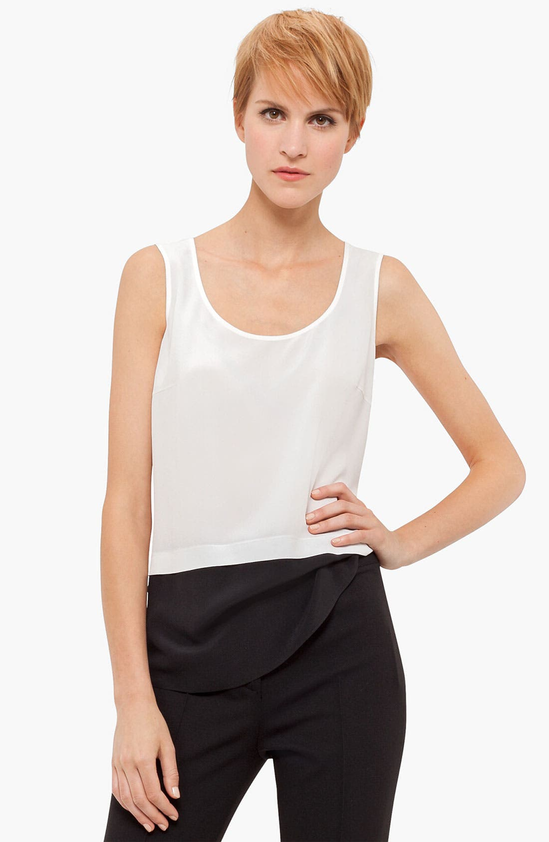 Alternate Image 1 Selected - Akris punto Colorblock Silk Tank