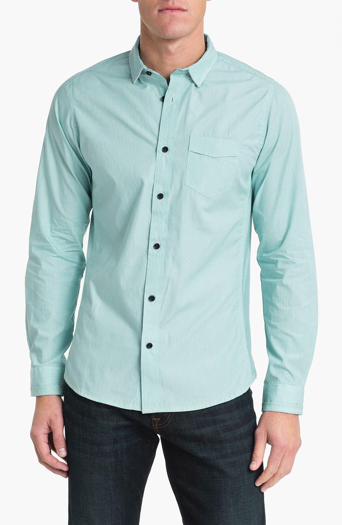 Main Image - Descendant of Thieves Fine Stripe Woven Shirt