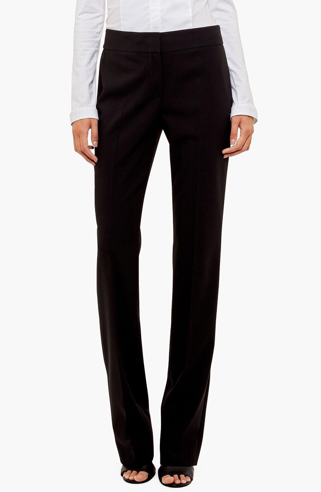 Akris punto 'Madison' Straight Leg Wool Trousers