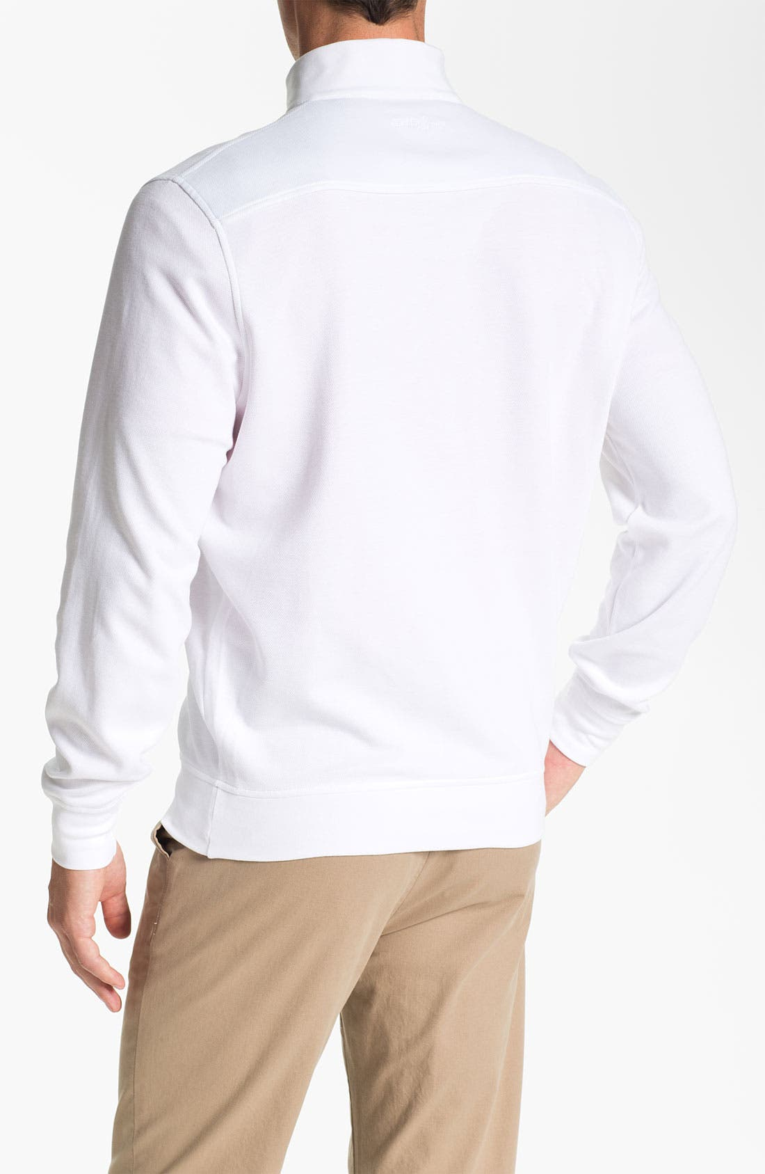 Alternate Image 2  - Bobby Jones Quarter Zip Jacquard Pullover