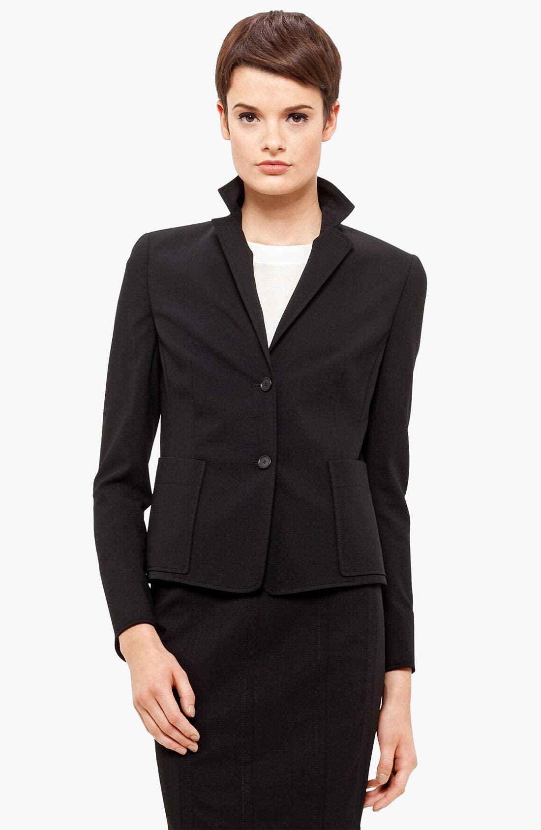 Main Image - Akris punto Two Button Wool Jacket