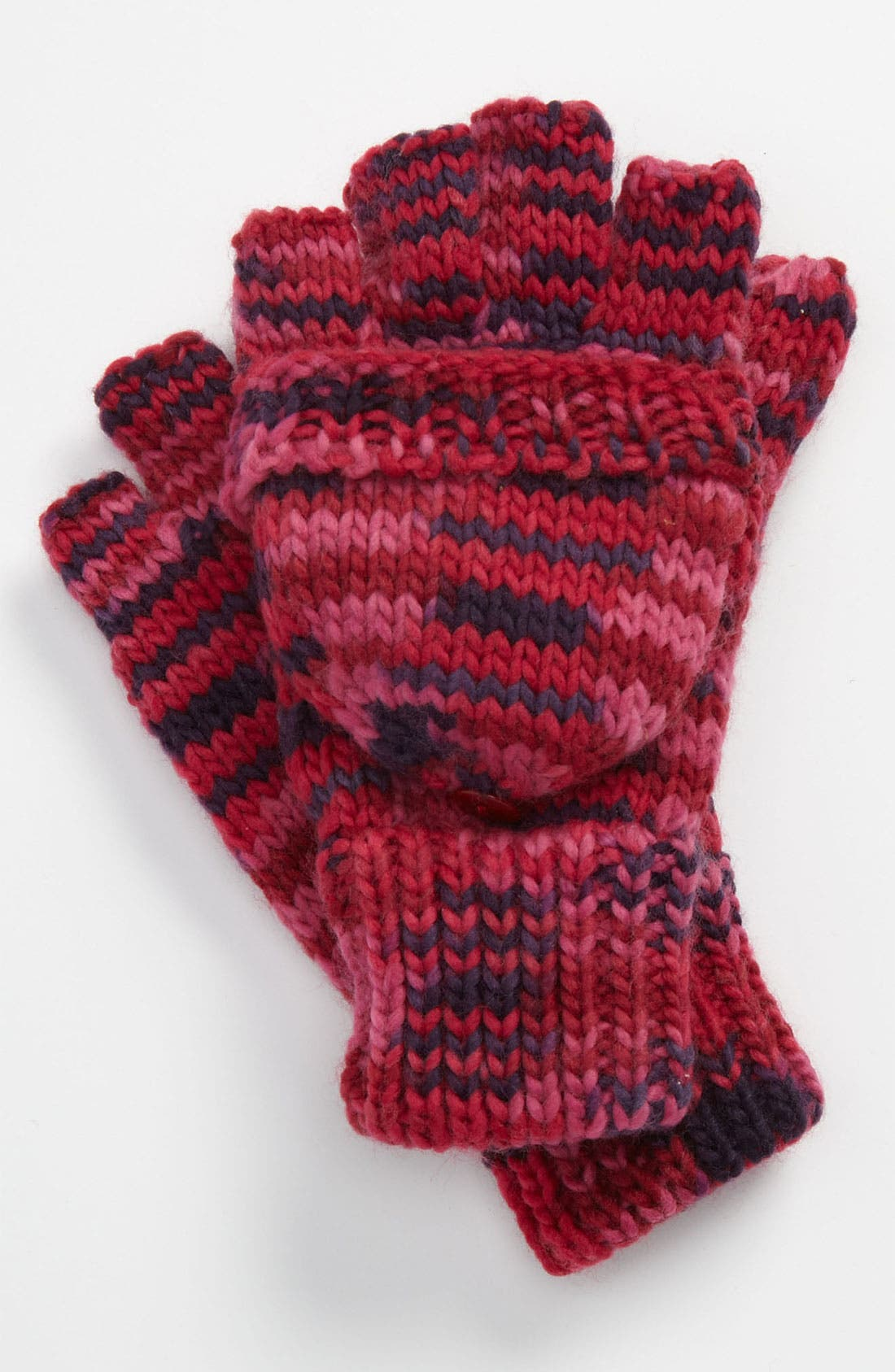 Main Image - The Accessory Collective Pop Top Convertible Mittens (Girls)