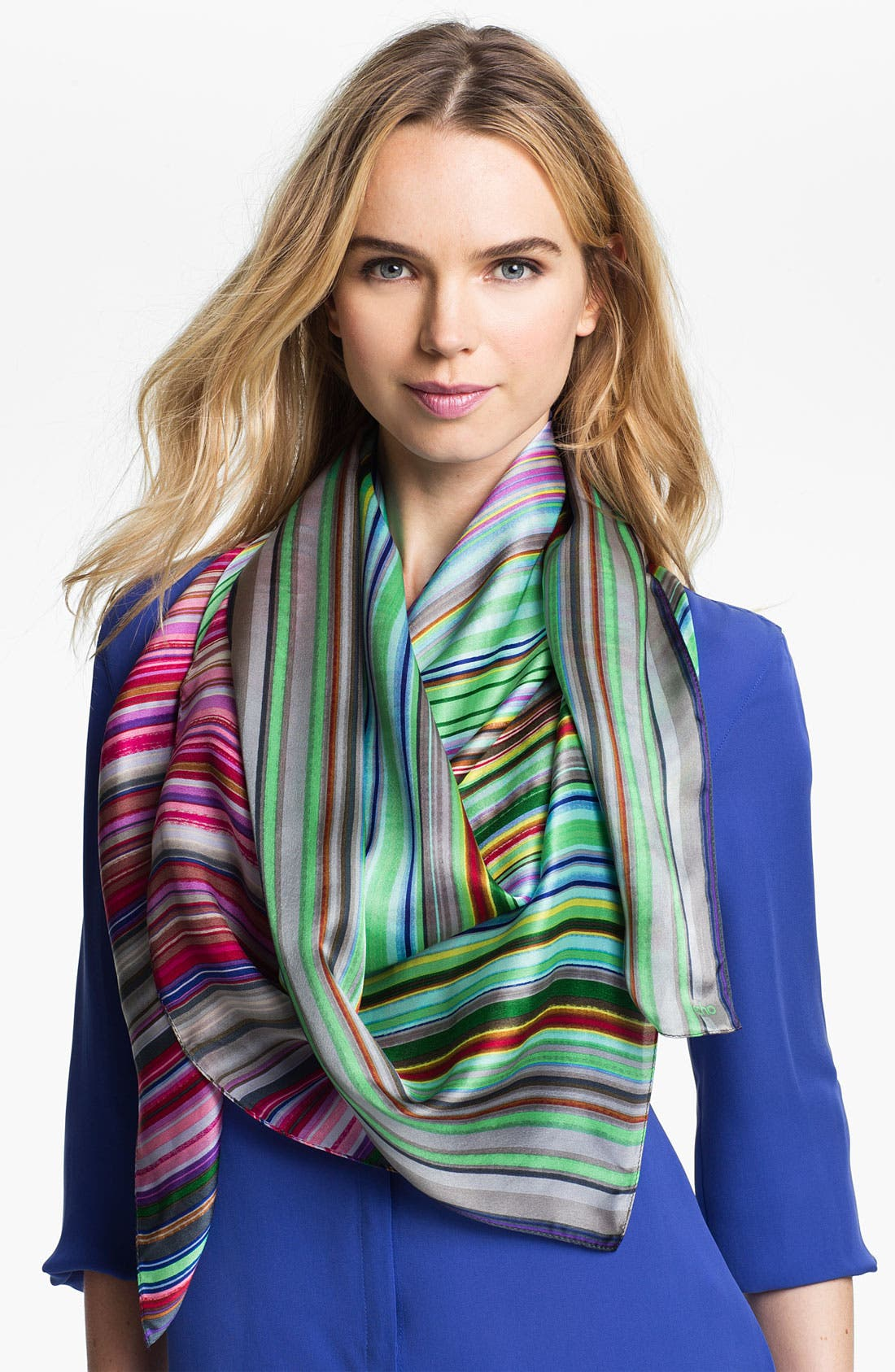 Main Image - Echo 'Sunburst Stripe' Silk Scarf