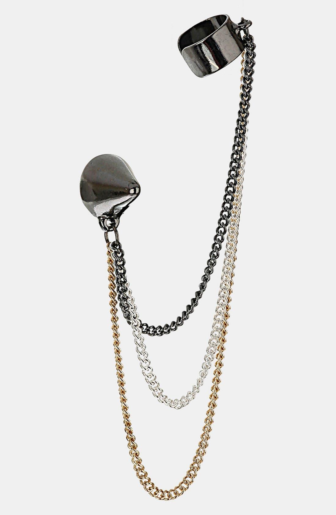 Main Image - Topshop Cone Chain Ear Cuff