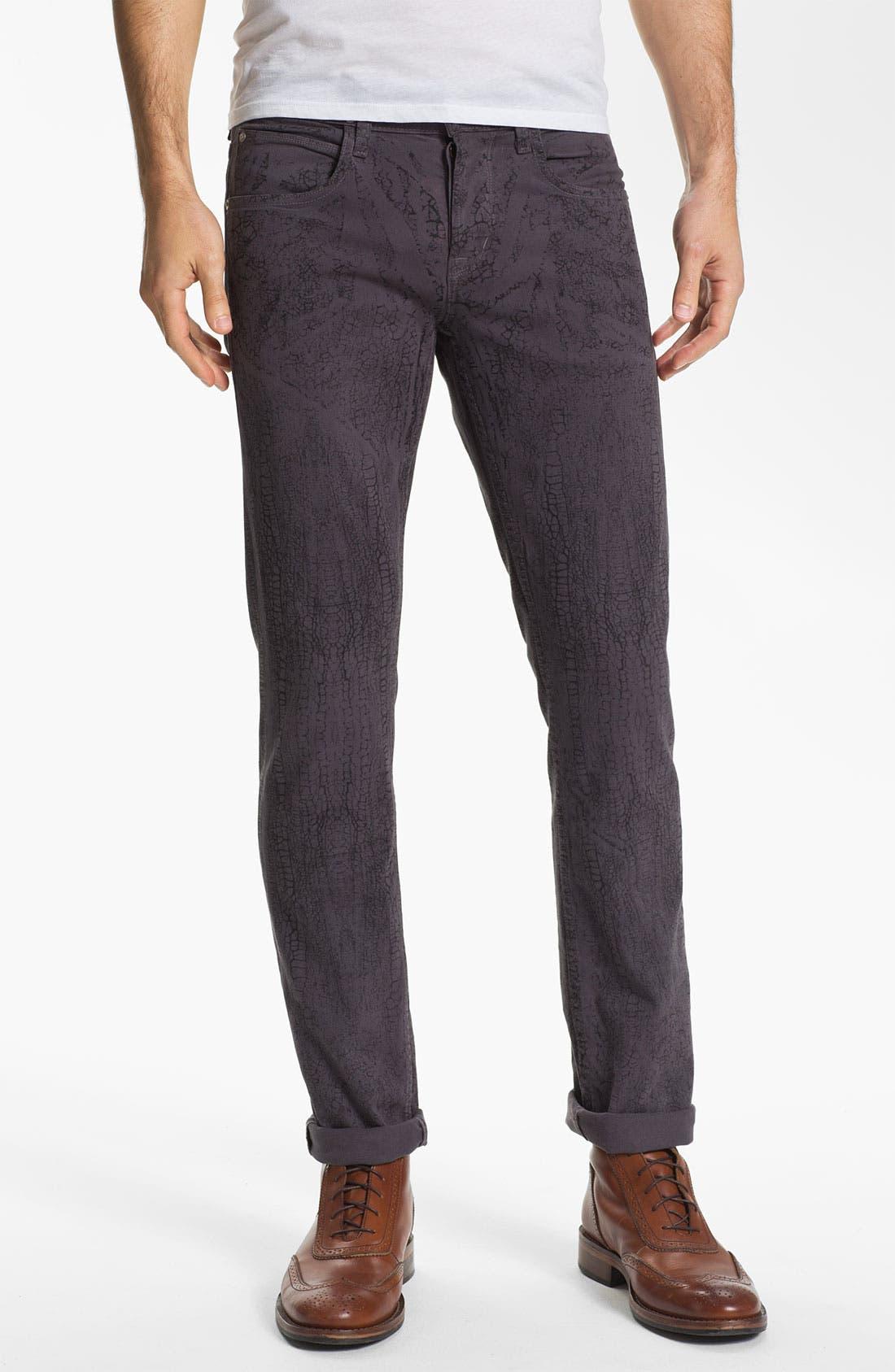 Alternate Image 1 Selected - Hudson Jeans 'Sartor' Slouchy Skinny Leg Jeans (Gone Platinum)