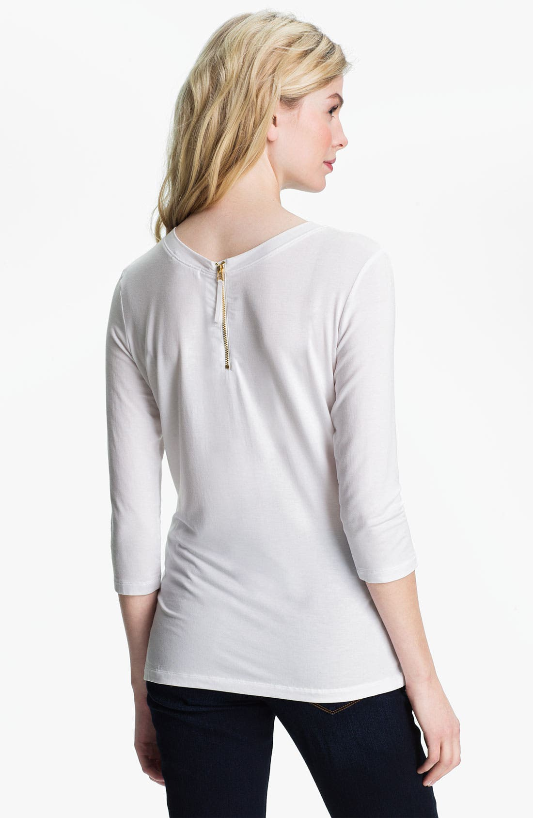 Main Image - Isaac Mizrahi Jeans 'Savannah' Zip Back Top
