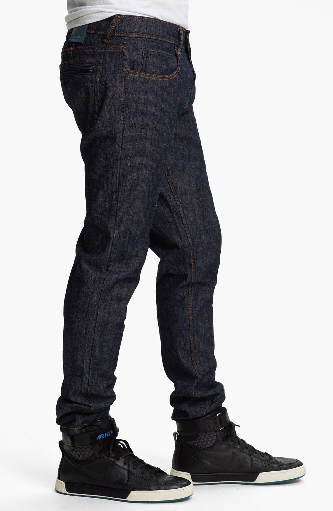 Alternate Image 3  - Ezekiel 'Chopper 305' Slim Straight Leg Jeans (Raw Indigo)