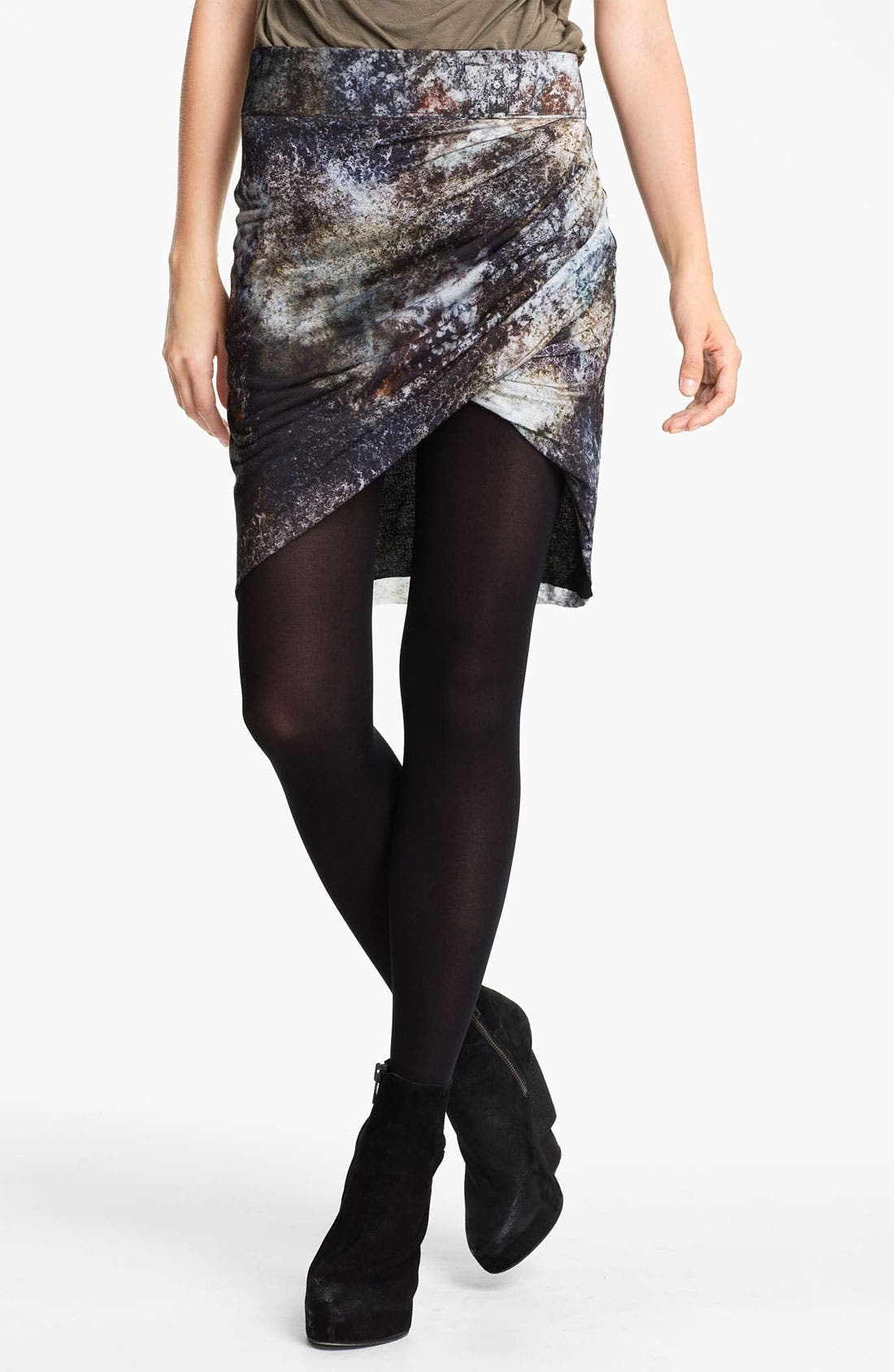 Main Image - Helmut Lang 'Oxide Print' Twisted Skirt