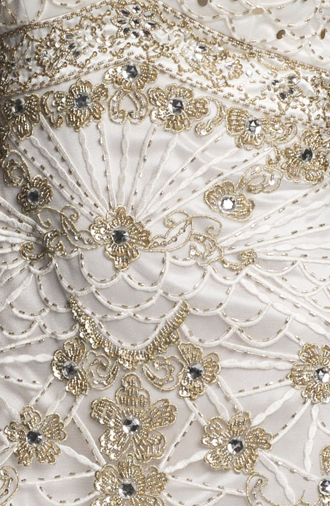 Alternate Image 3  - Sue Wong Beaded Bodice Drop Waist Gown