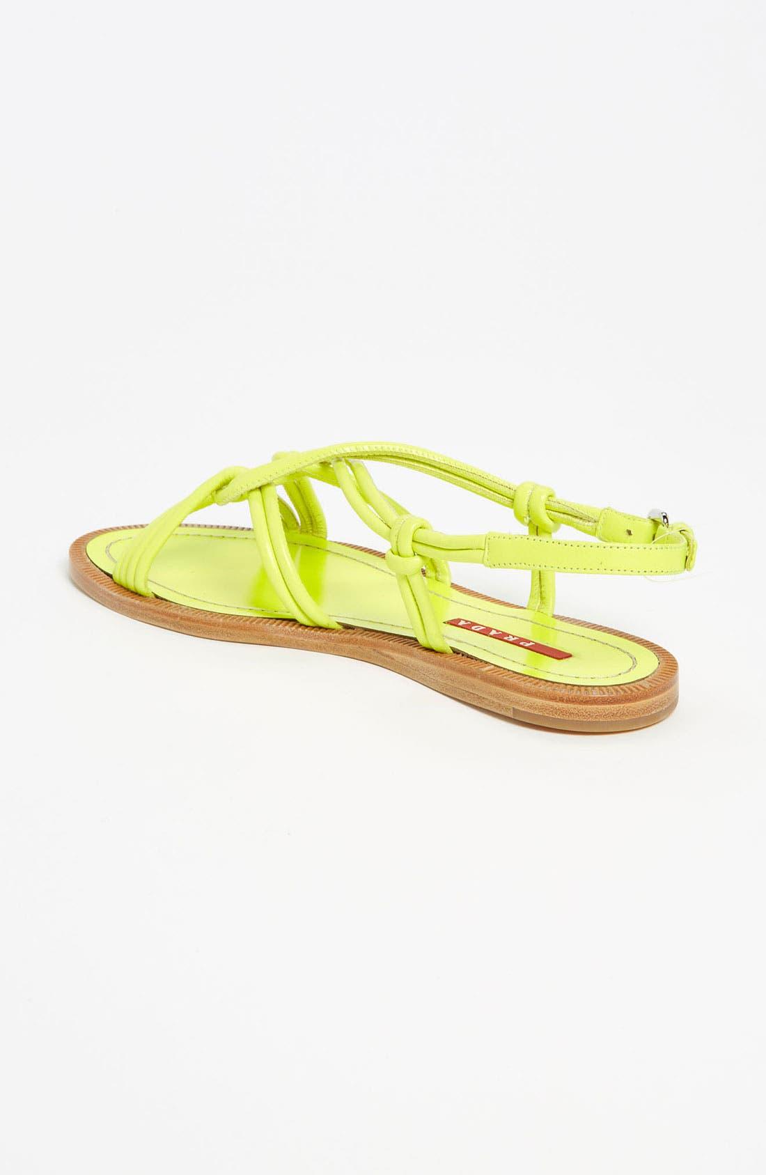 Alternate Image 2  - Prada Knot Strap Sandal