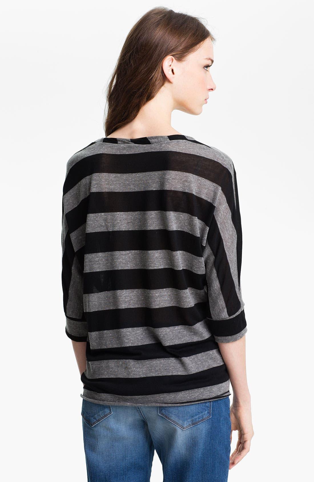 Alternate Image 2  - Olivia Moon Stripe Twist Neck Tunic