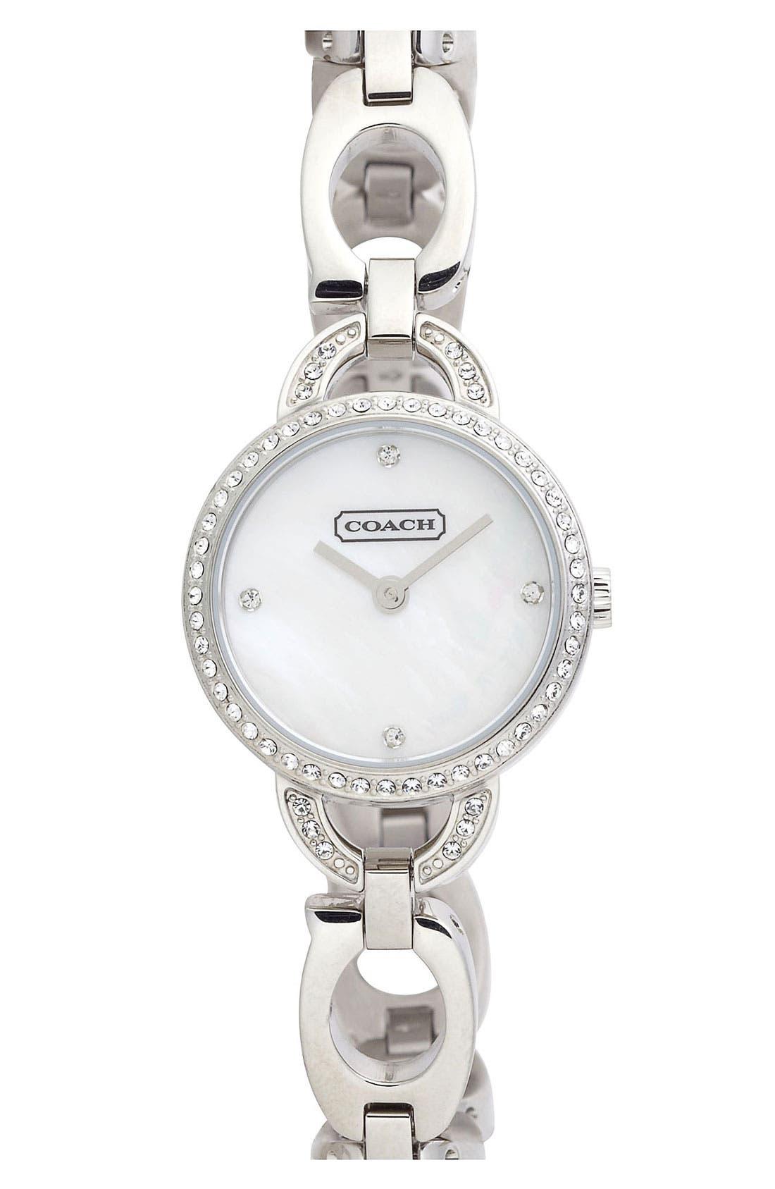 Main Image - COACH Small Round Bracelet Watch