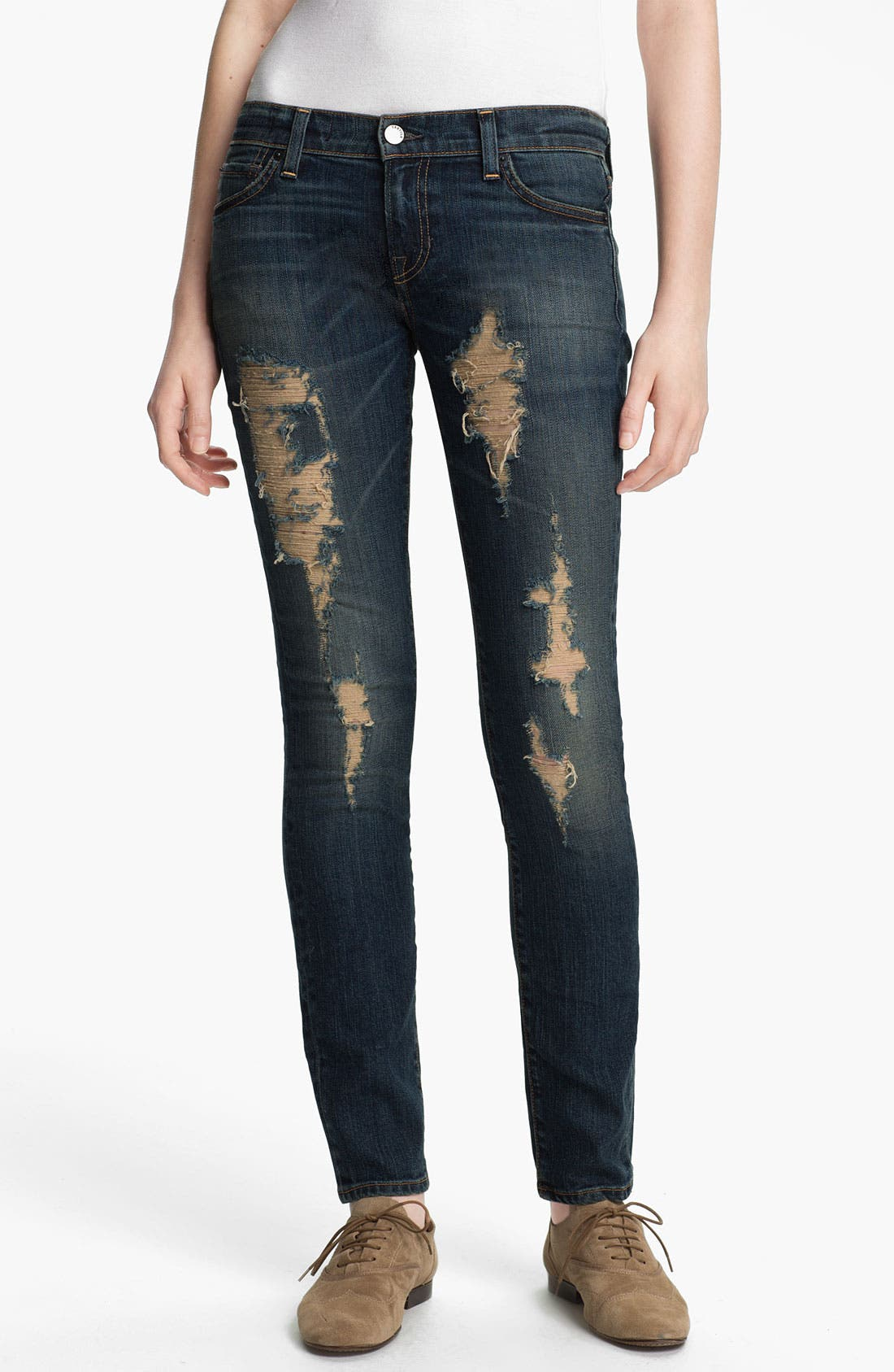 Alternate Image 1 Selected - TEXTILE Elizabeth and James 'Debbie' Distressed Skinny Jeans