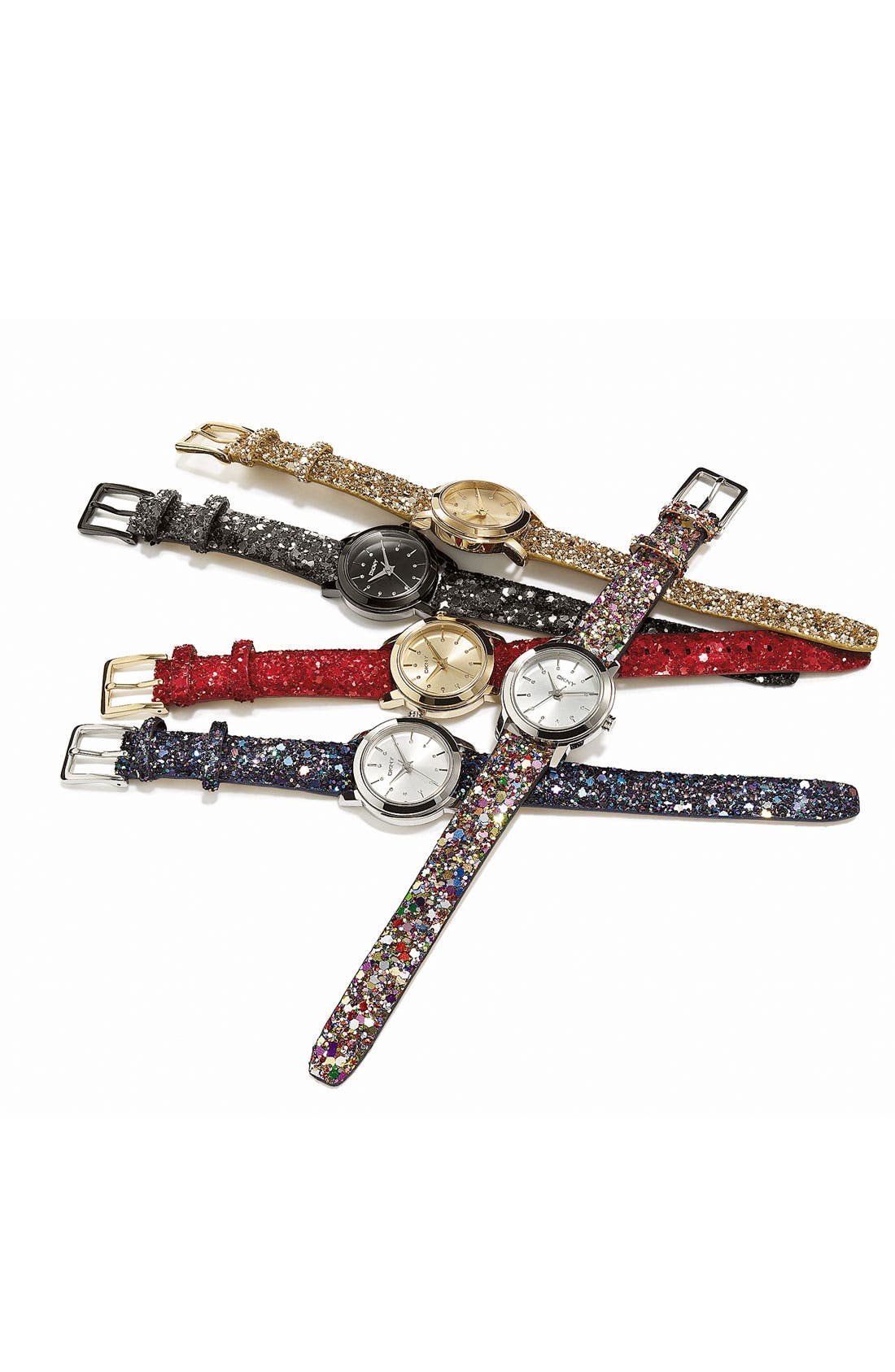 Alternate Image 2  - DKNY Sparkle Strap Watch