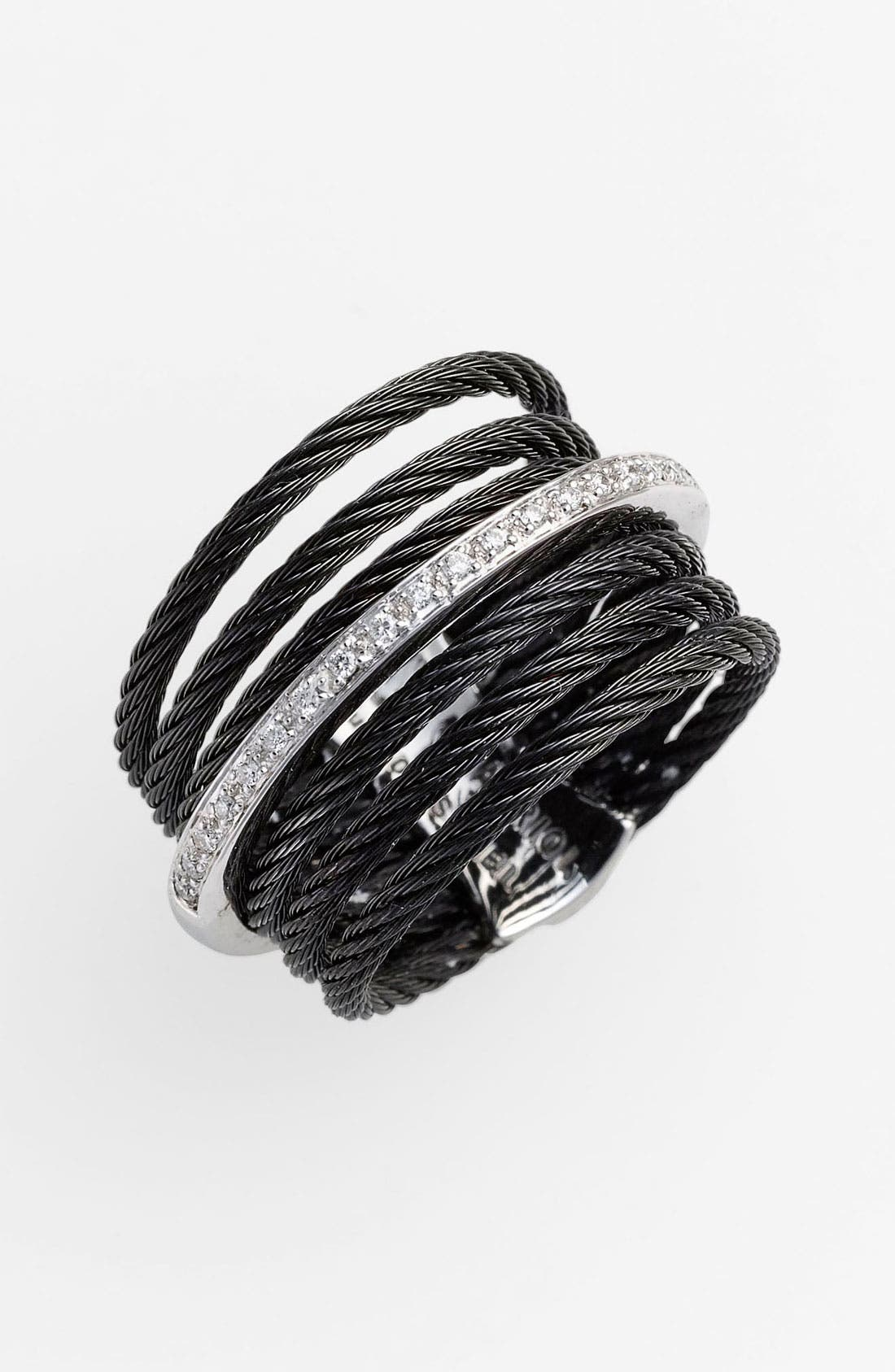 Alternate Image 1 Selected - ALOR® 7-Row Cable & Diamond Ring