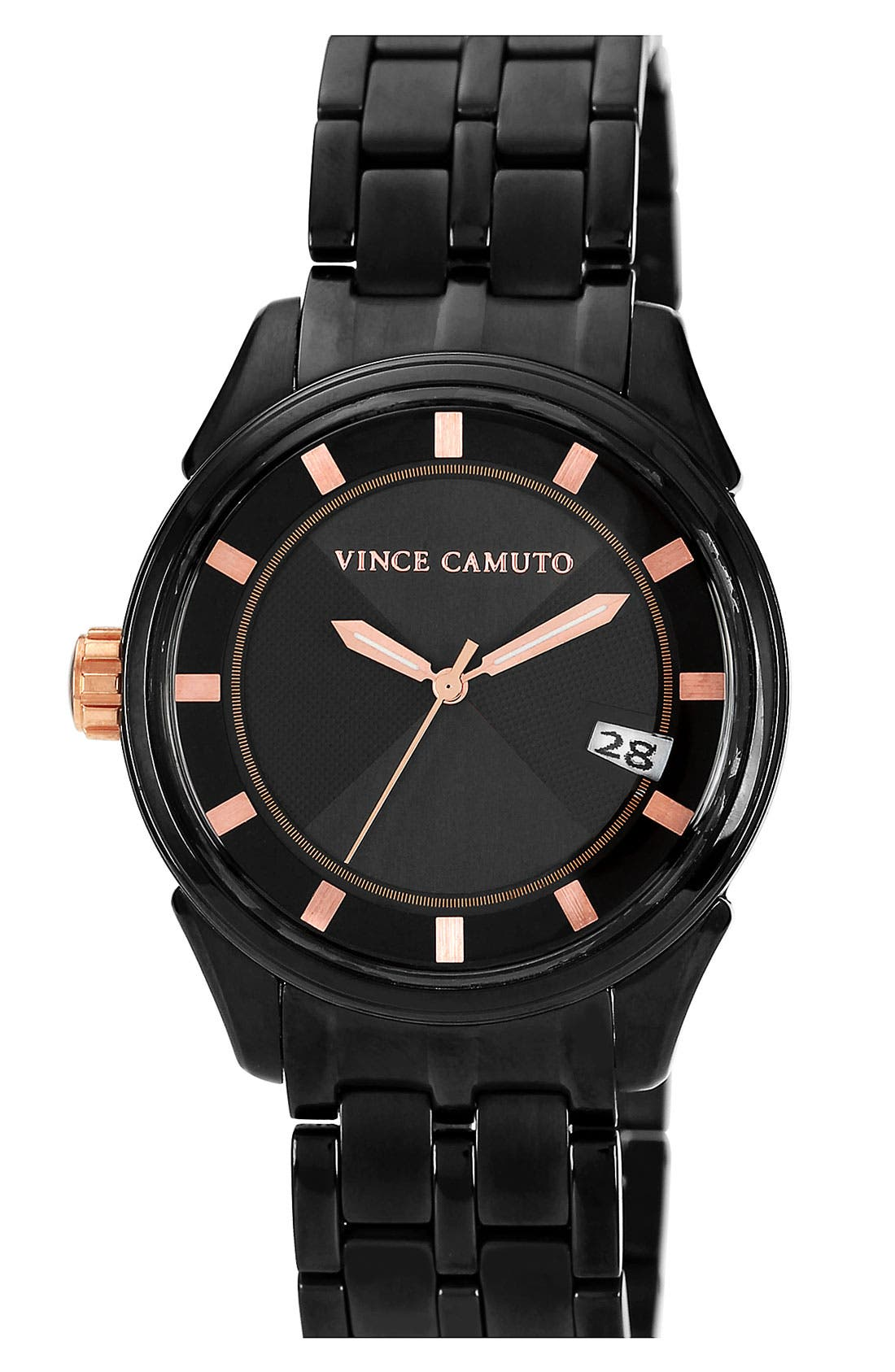 Alternate Image 1 Selected - Vince Camuto Aluminum Accent Bracelet Watch, 40mm