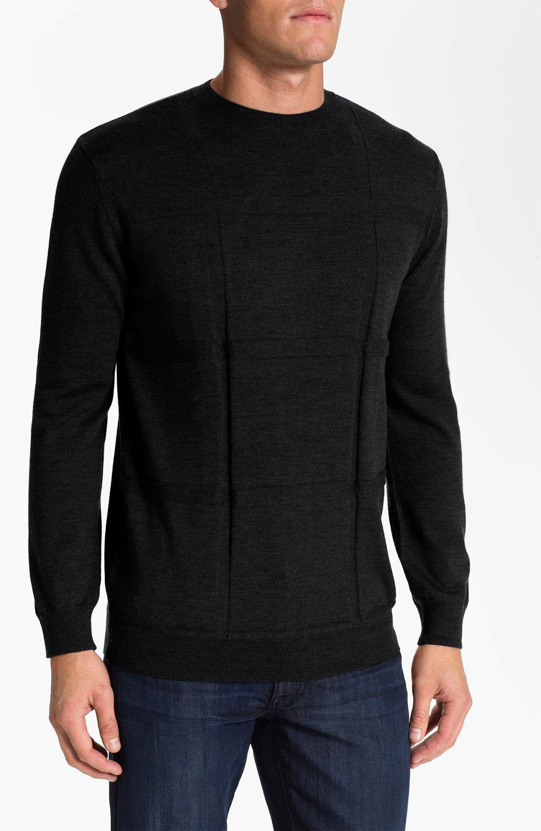 Main Image - Bugatchi Uomo Merino Wool Crewneck Sweater