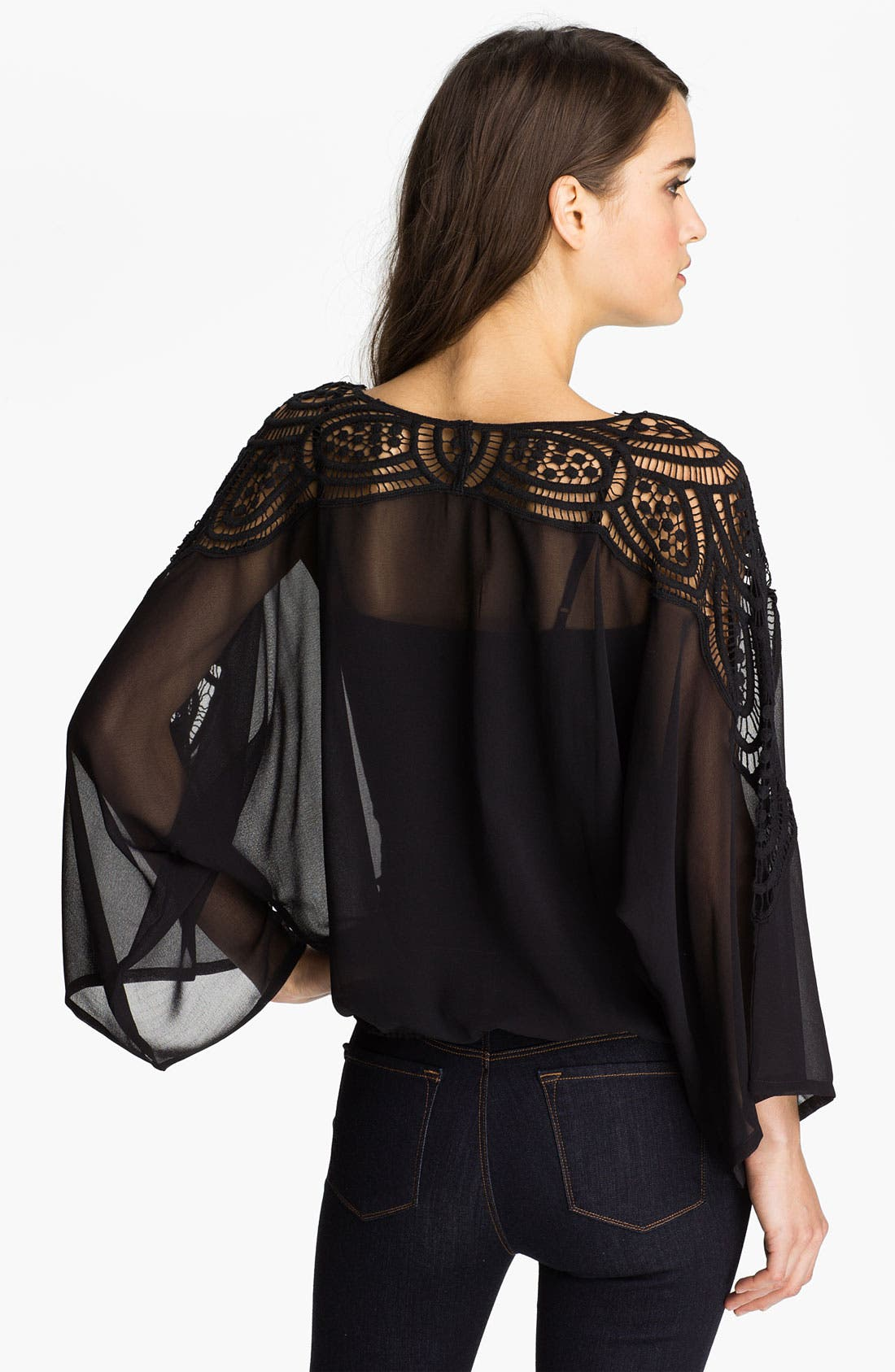 Alternate Image 2  - Sanctuary 'Santa Fe Nights' Crochet Chiffon Top