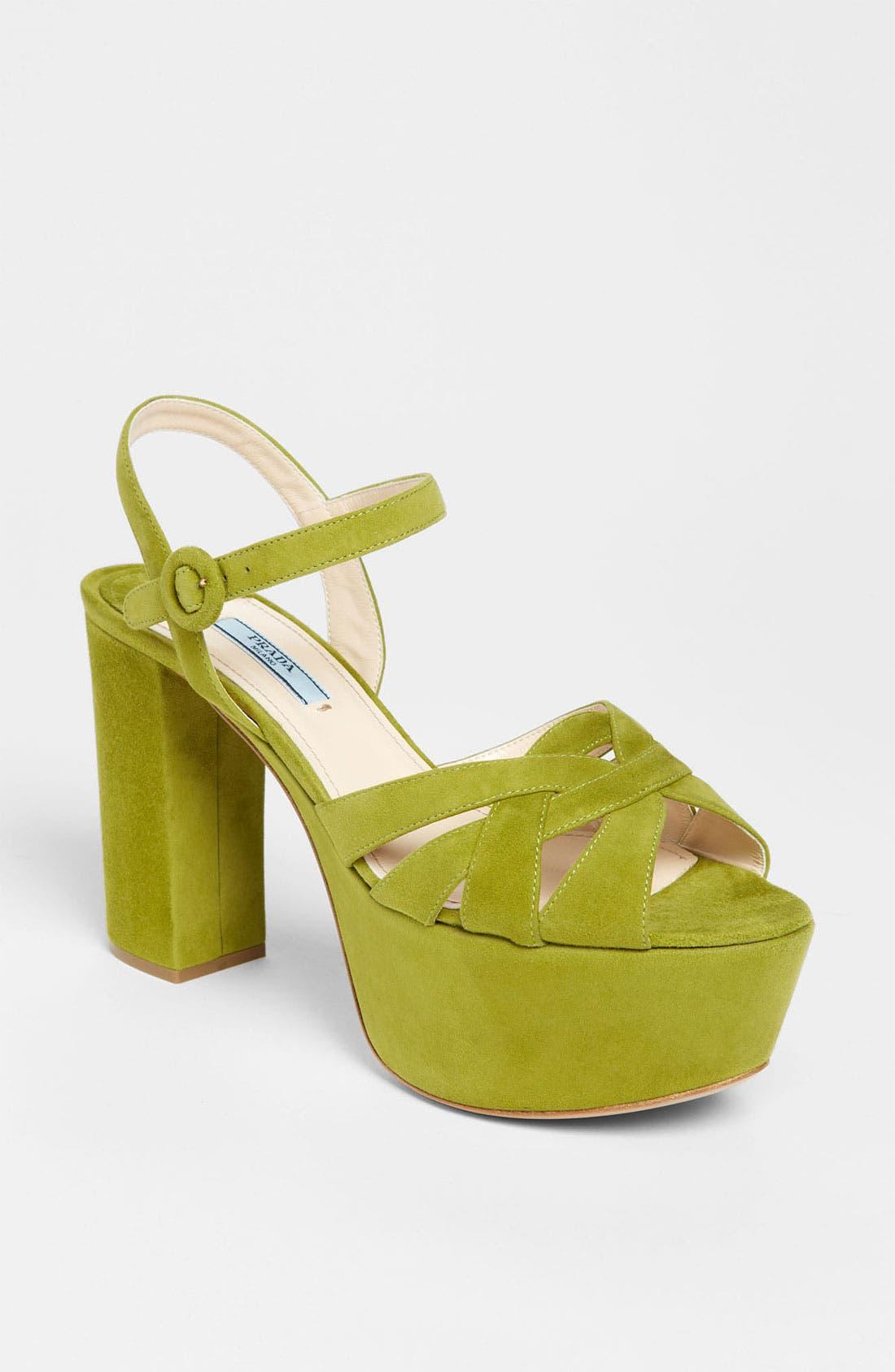 Alternate Image 1 Selected - Prada Strap Platform Sandal