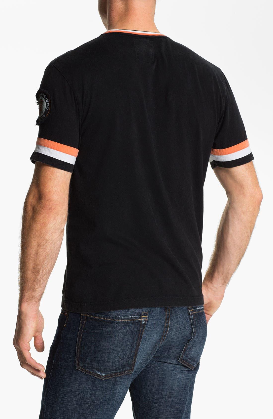Alternate Image 2  - Red Jacket 'San Francisco Giants' Trim Fit Ringer T-Shirt (Men)