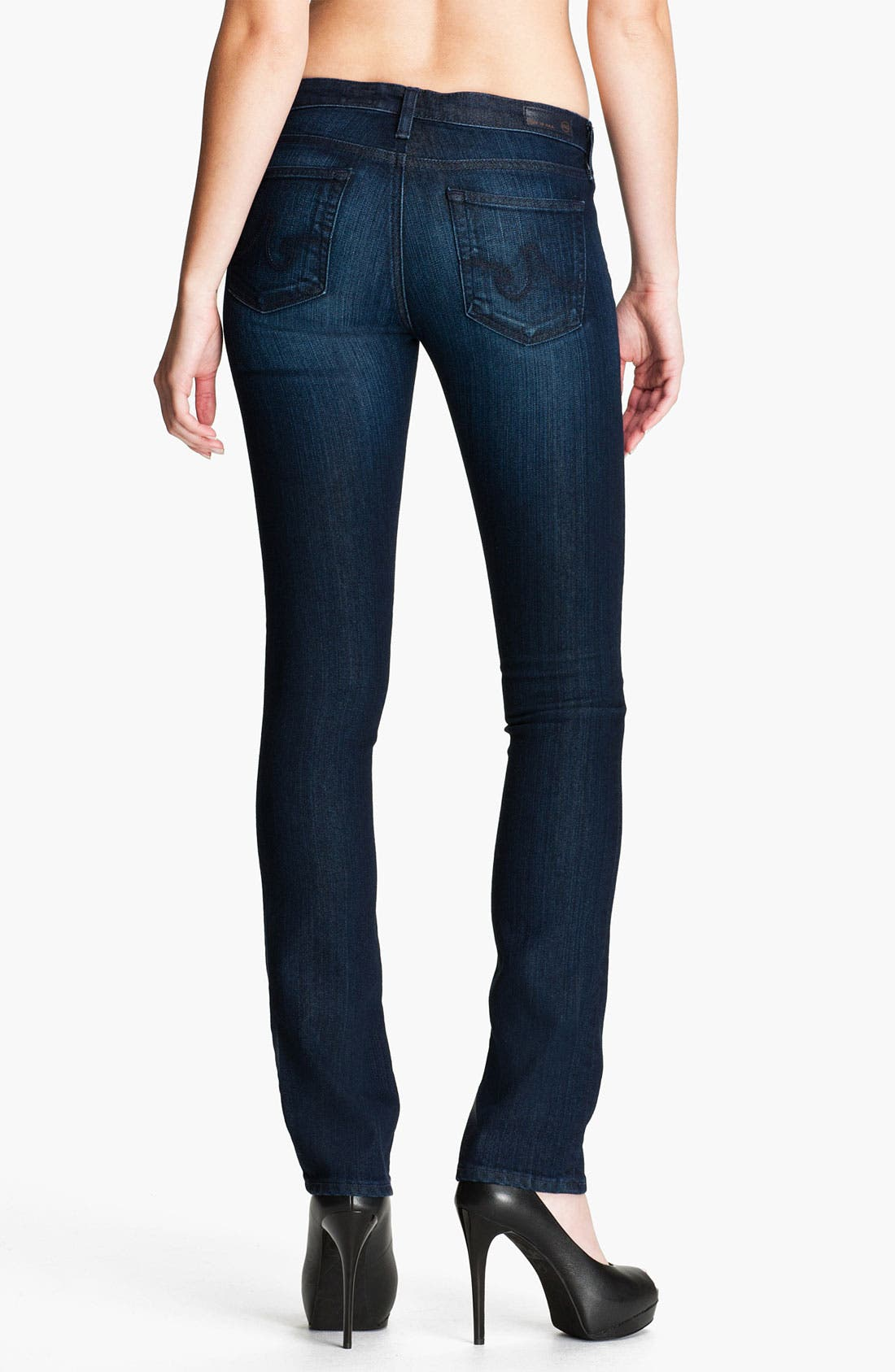 Alternate Image 2  - AG Jeans 'Ballad' Slim Bootcut Stretch Jeans (Viy Vision)
