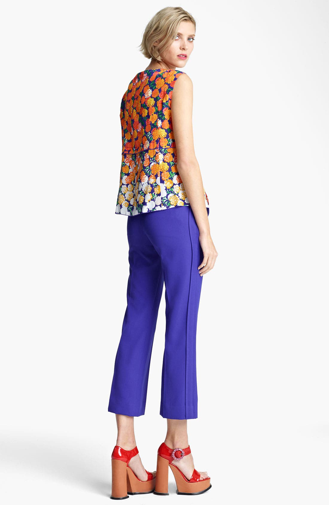 Alternate Image 5  - MARC JACOBS Dégradé Floral Silk Crepe Top