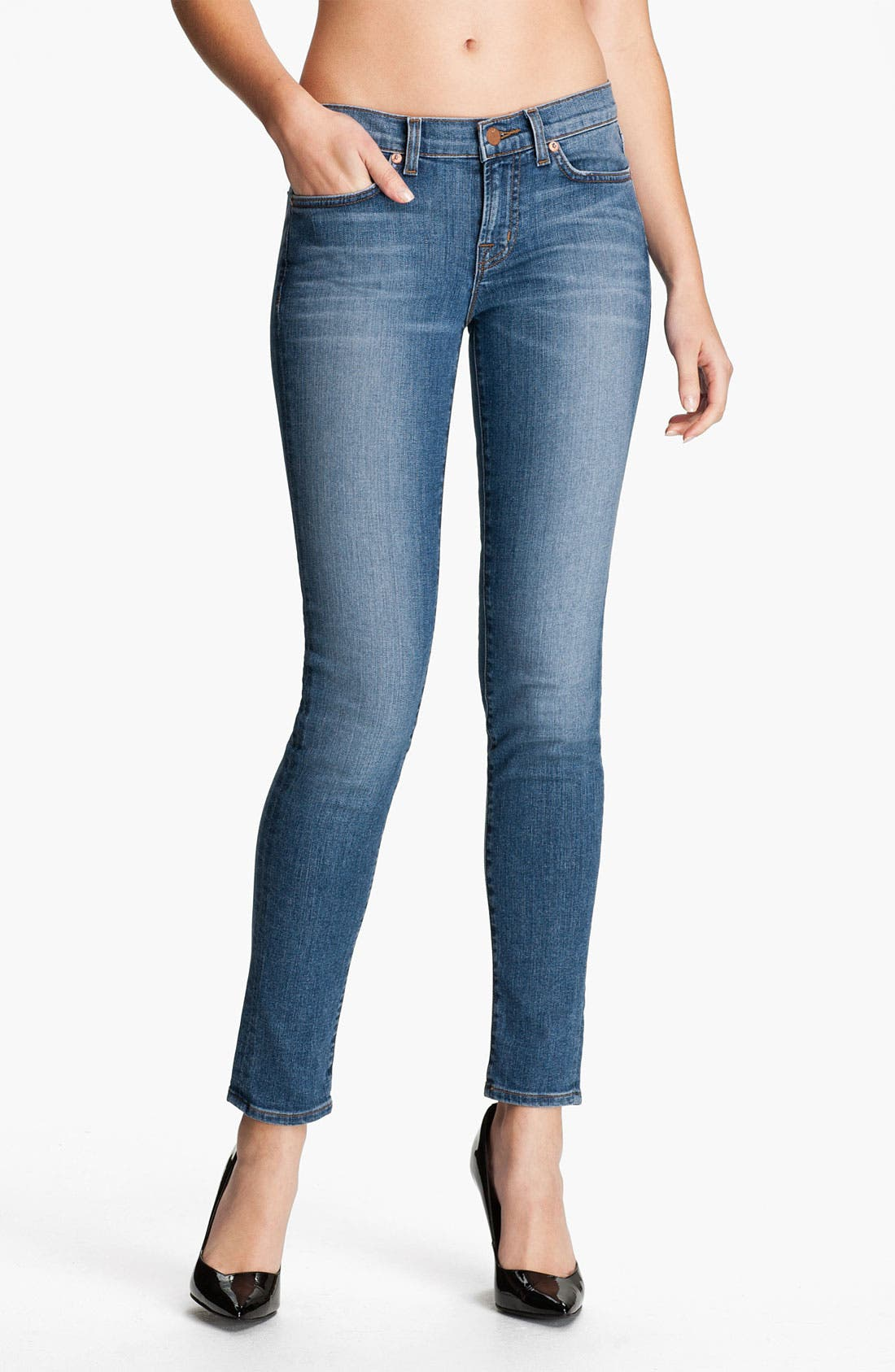 Alternate Image 1 Selected - J Brand Stretch Denim Skinny Jeans (Bliss)