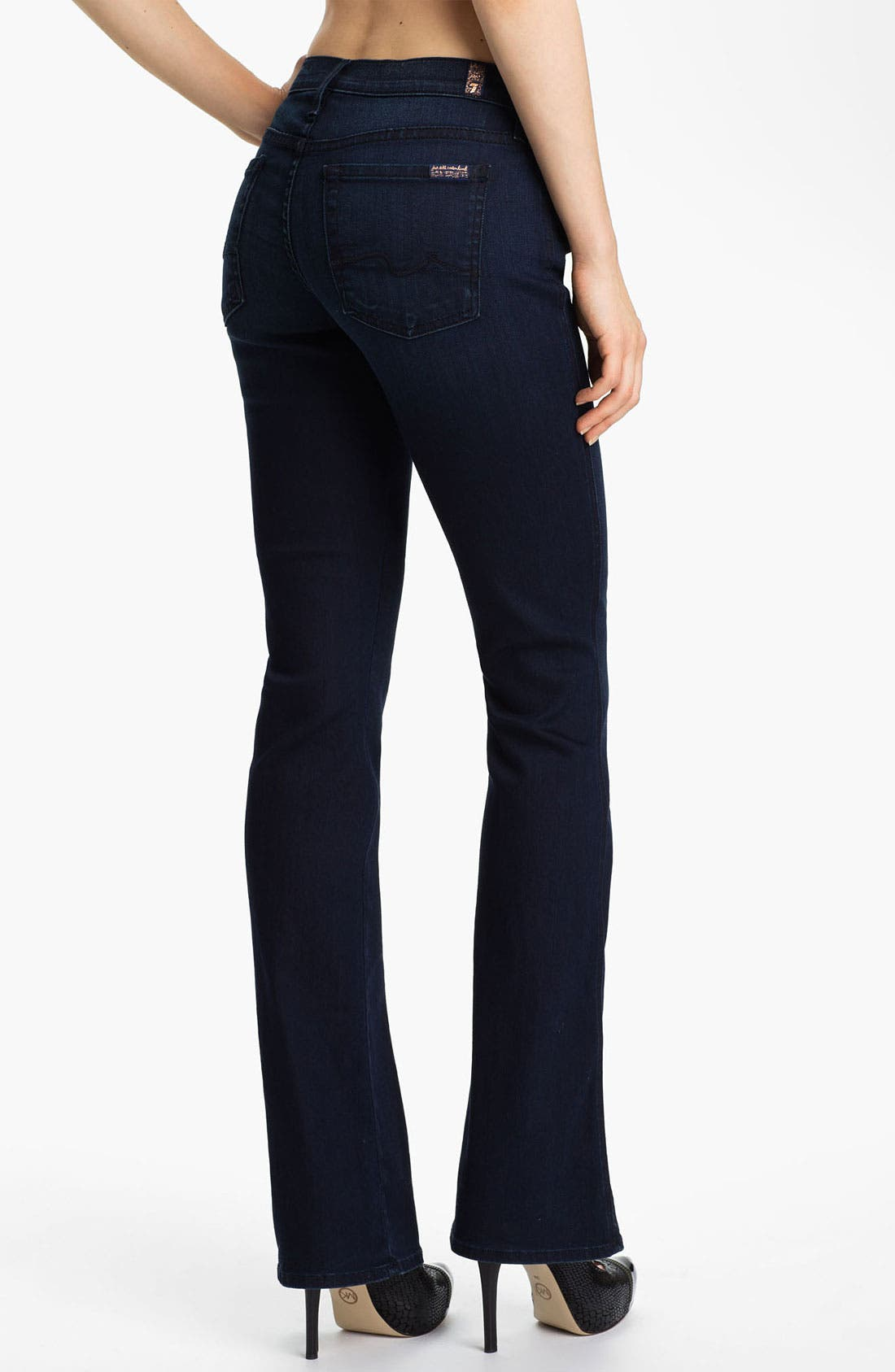 Alternate Image 2  - 7 For All Mankind® Bootcut Stretch Jeans (Dusk Night Sky)
