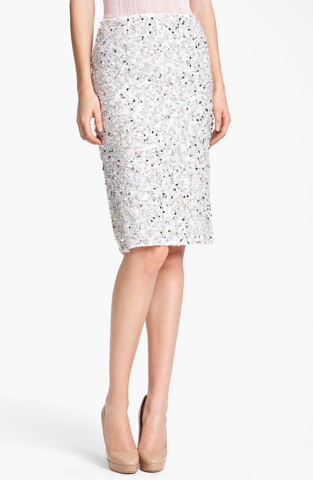 Main Image - Nina Ricci Paillette Tweed Pencil Skirt