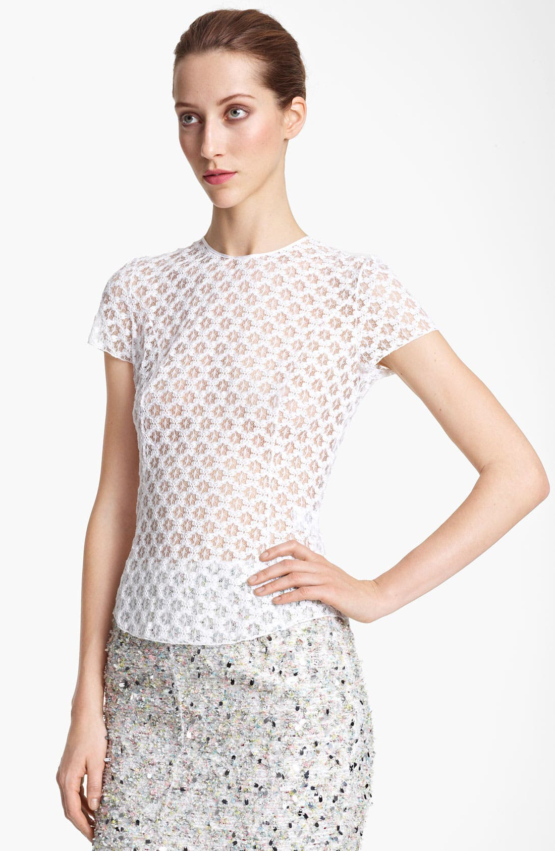Alternate Image 1 Selected - Nina Ricci Lace Tee