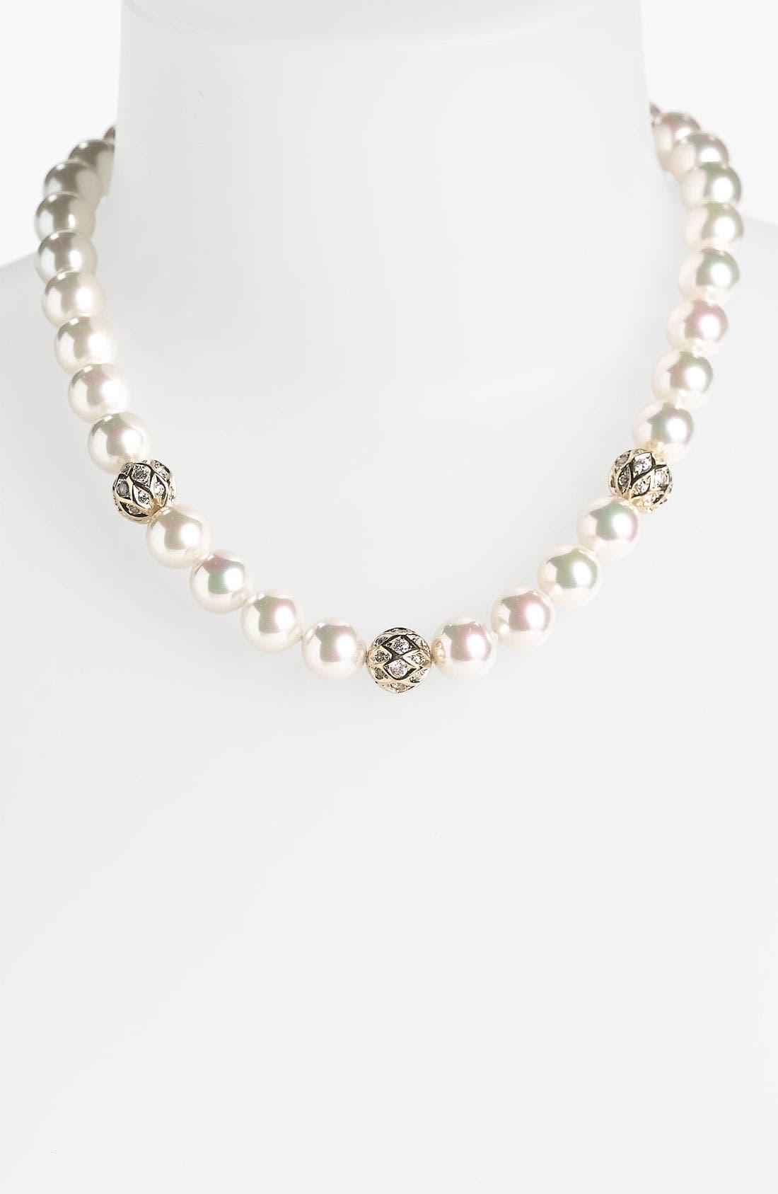 Main Image - Majorica 12mm Pearl Collar Necklace