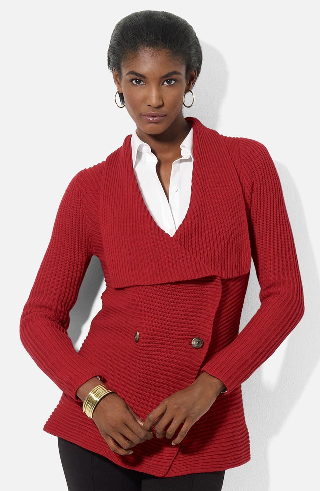 Alternate Image 1 Selected - Lauren Ralph Lauren Double Breasted Cardigan
