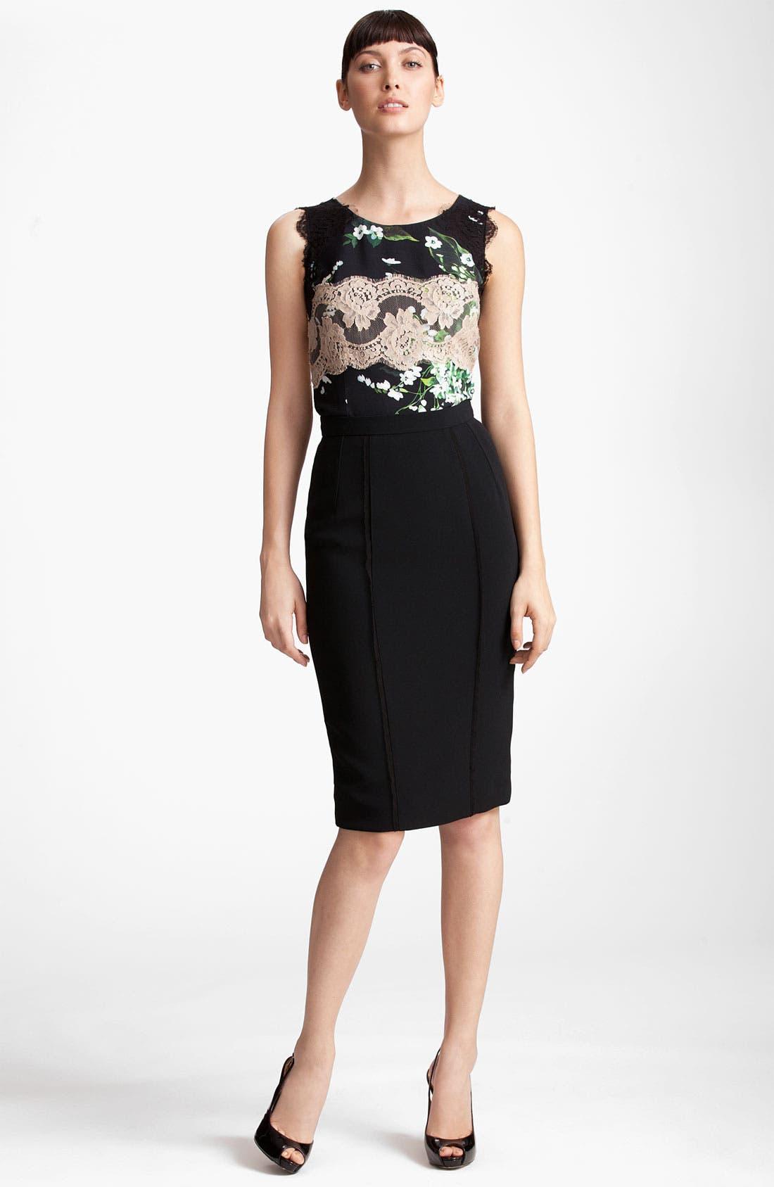 Alternate Image 4  - Dolce&Gabbana Raw Edge Stretch Cady Skirt