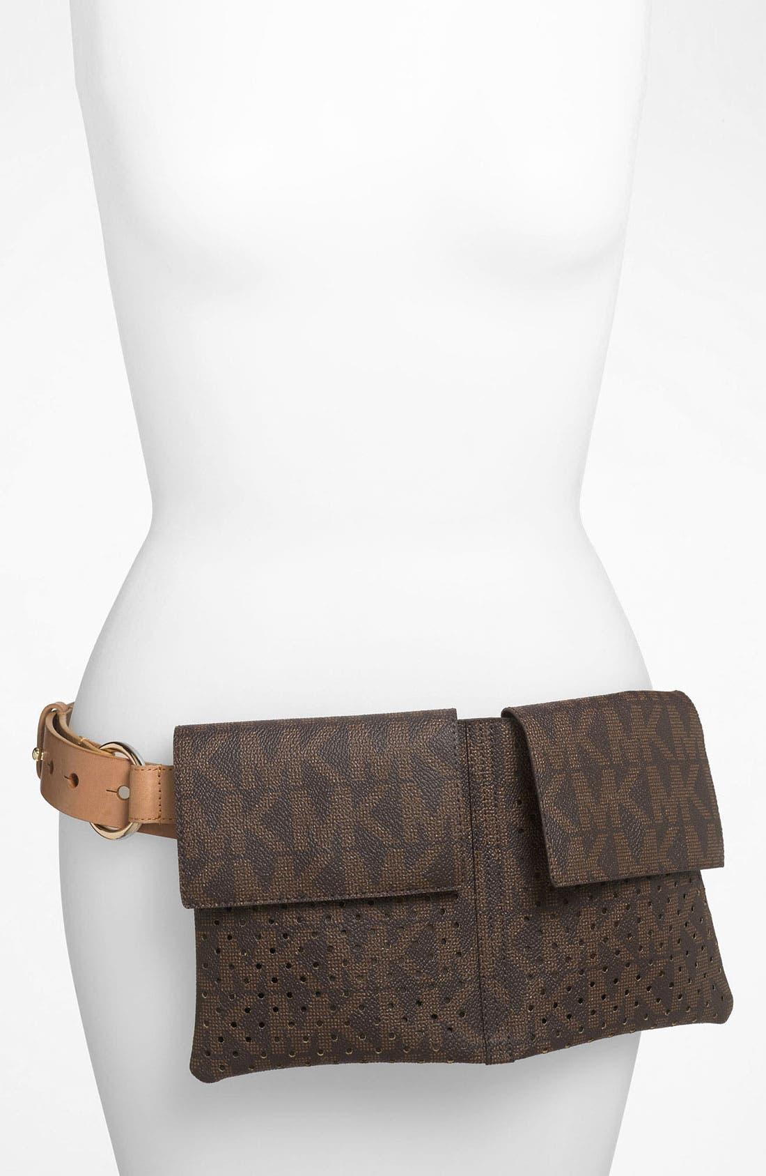 Alternate Image 1 Selected - MICHAEL Michael Kors Perforated Belt Bag
