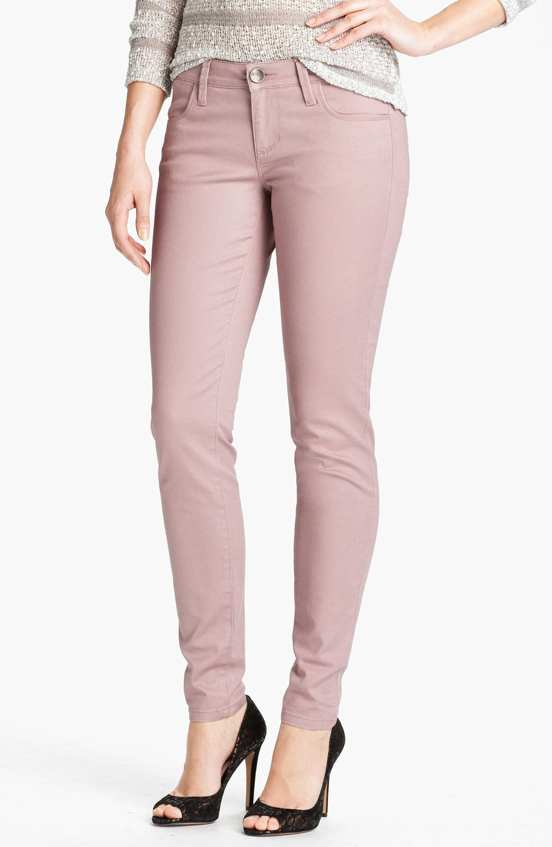 Main Image - KUT from the Kloth 'Jennifer' Skinny Stretch Jeans (Rose) (Online Exclusive)