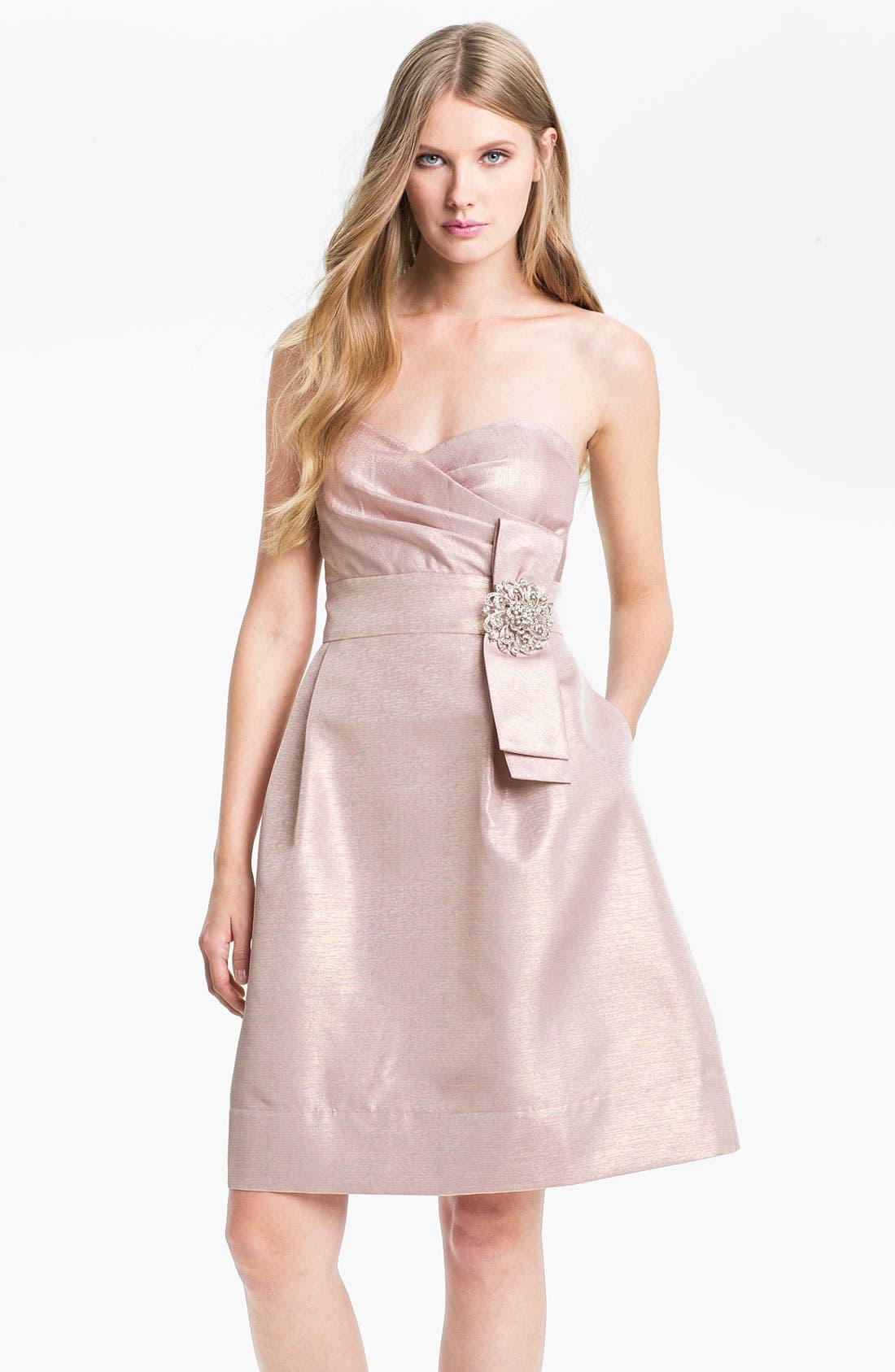 Alternate Image 1 Selected - Eliza J Embellished Strapless Sweetheart Dress