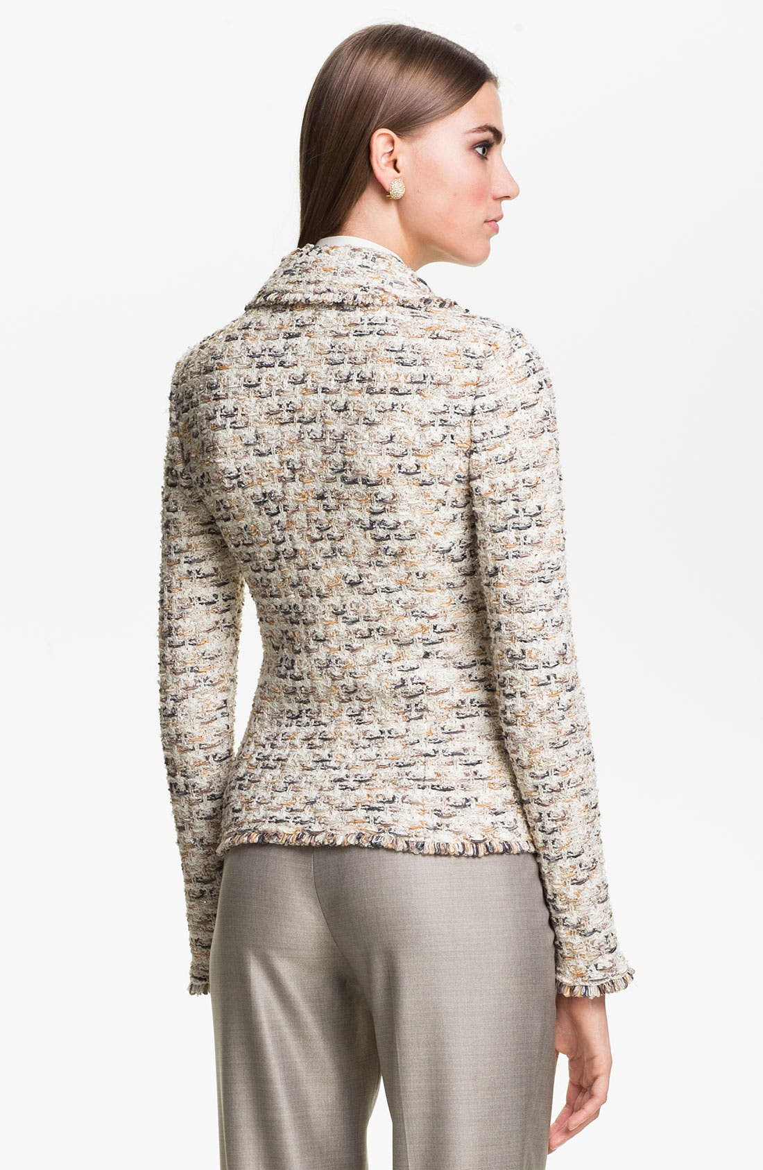 Alternate Image 4  - St. John Collection Fringe Tweed Jacket