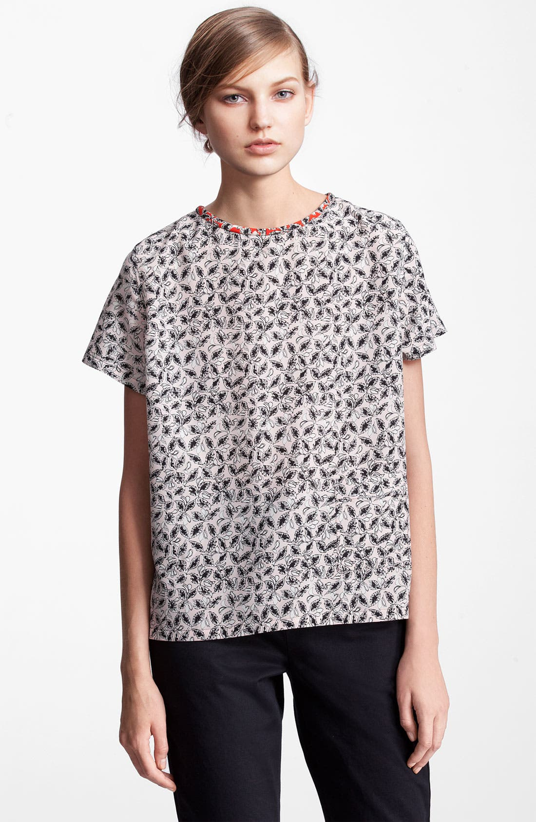 Main Image - Marni Edition Leaf Print Silk Top