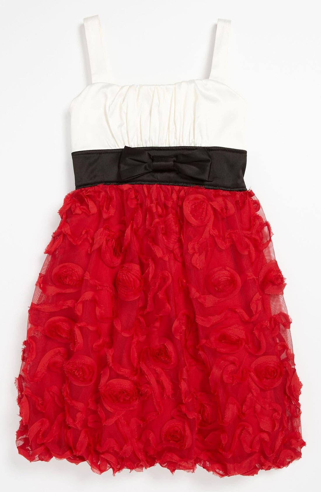 Main Image - Roxette Colorblock Soutache Dress (Little Girls & Big Girls)
