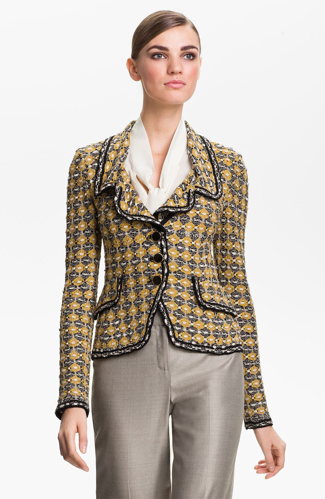 Alternate Image 1 Selected - St. John Collection Geometric Tweed Jacket