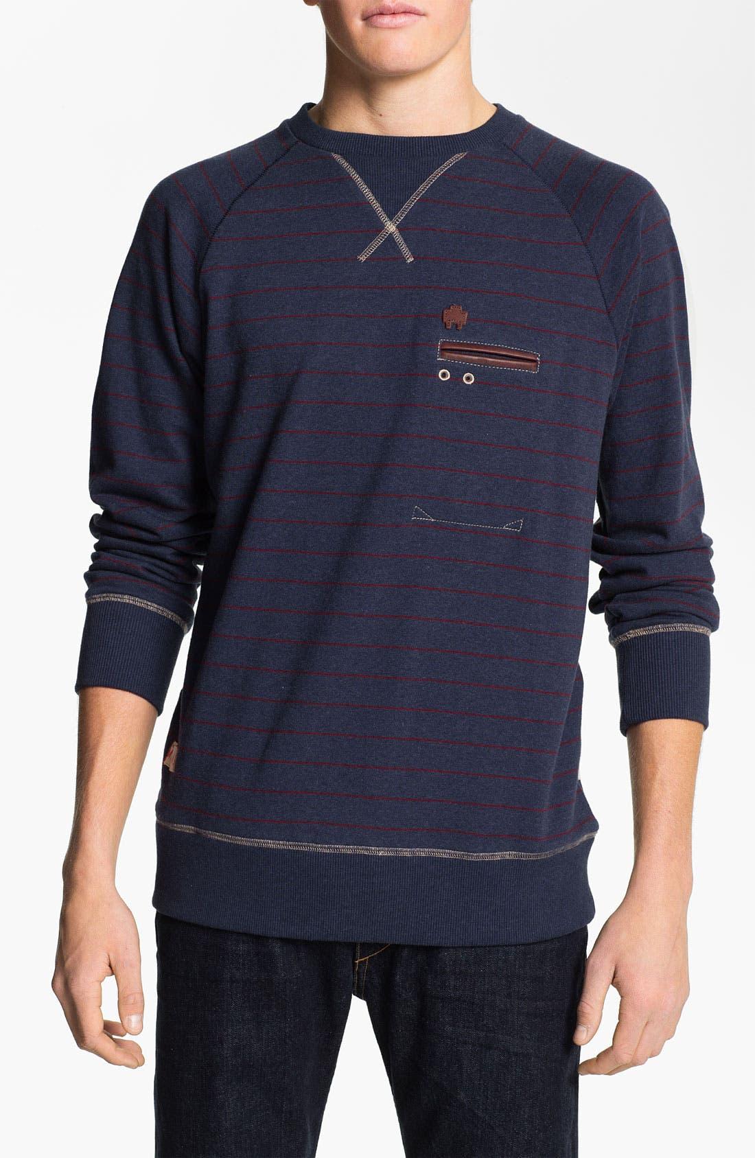 Alternate Image 1 Selected - Marshall Artist Stripe Crewneck Sweatshirt