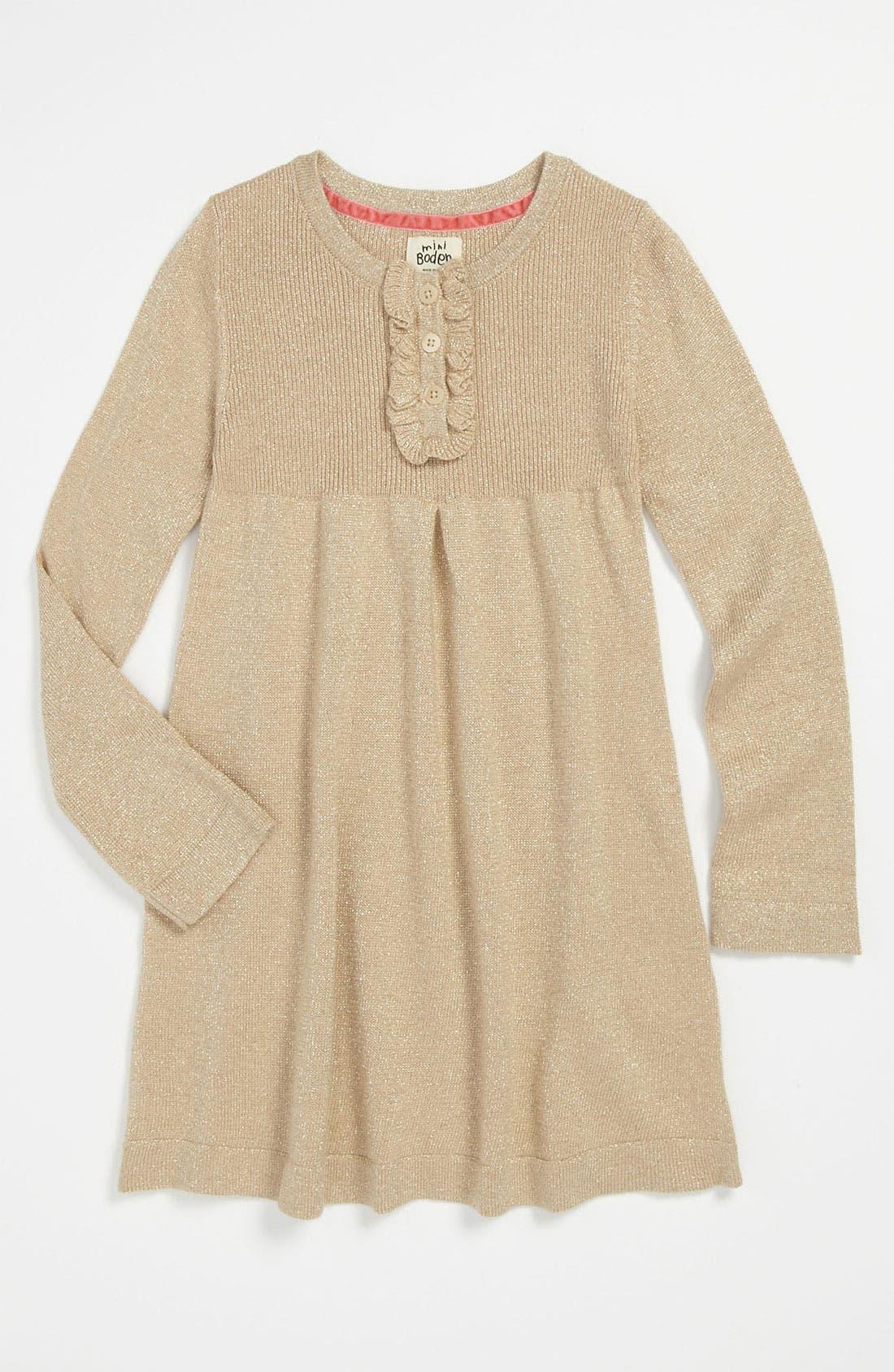 Main Image - Mini Boden 'Pretty' Ruffle Dress (Little Girls & Big Girls)
