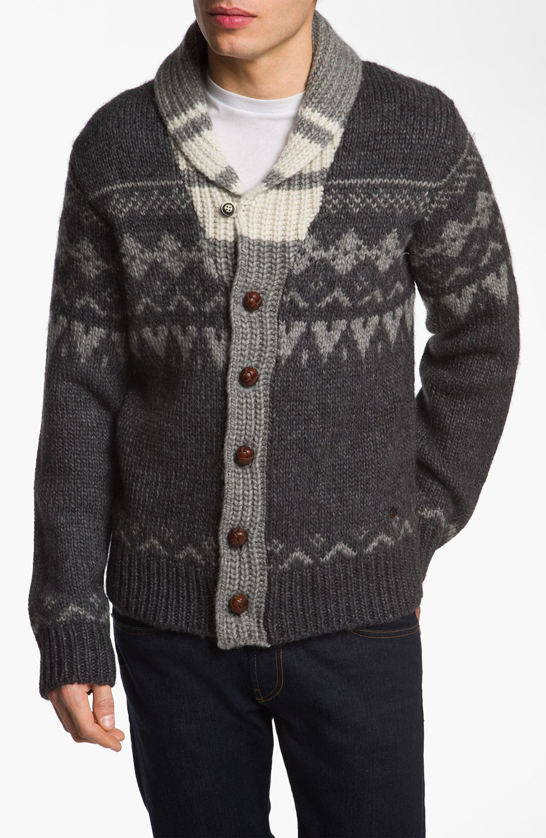Main Image - Woolrich John Rich 'Trapper Peak' Shawl Collar Cardigan