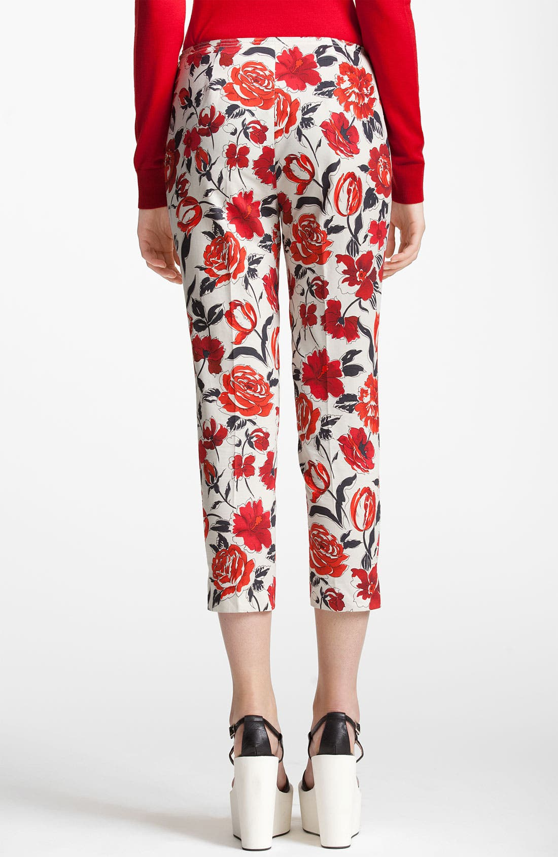 Alternate Image 2  - Jil Sander Navy Garden Print Skinny Crop Pants