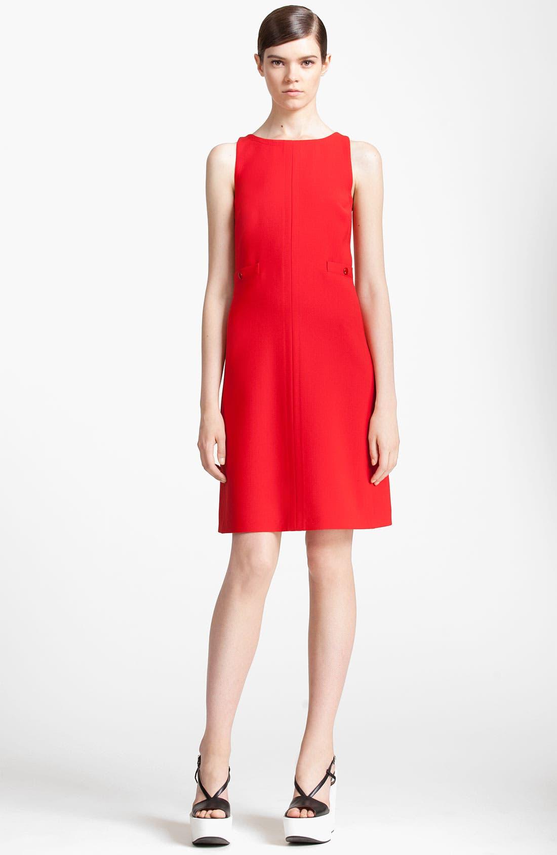 Main Image - Jil Sander Navy Wool Crepe Dress
