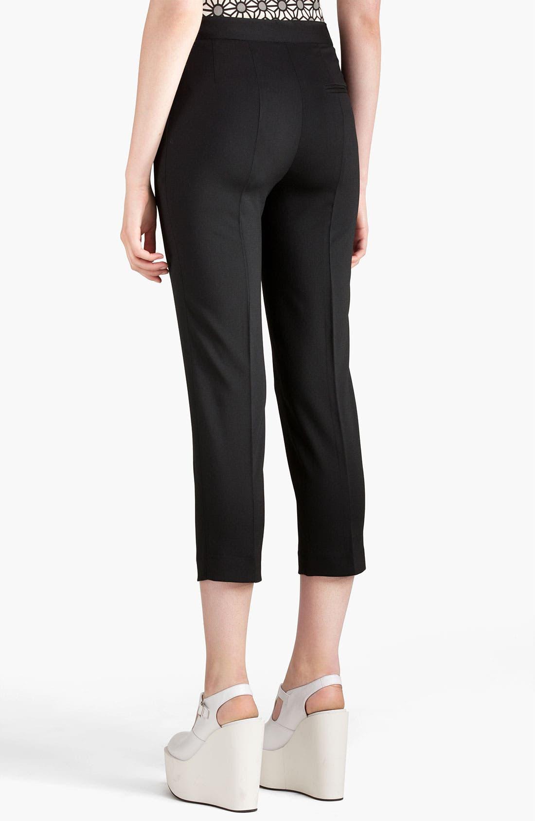 Alternate Image 2  - Jil Sander Navy Stretch Wool Crop Pants